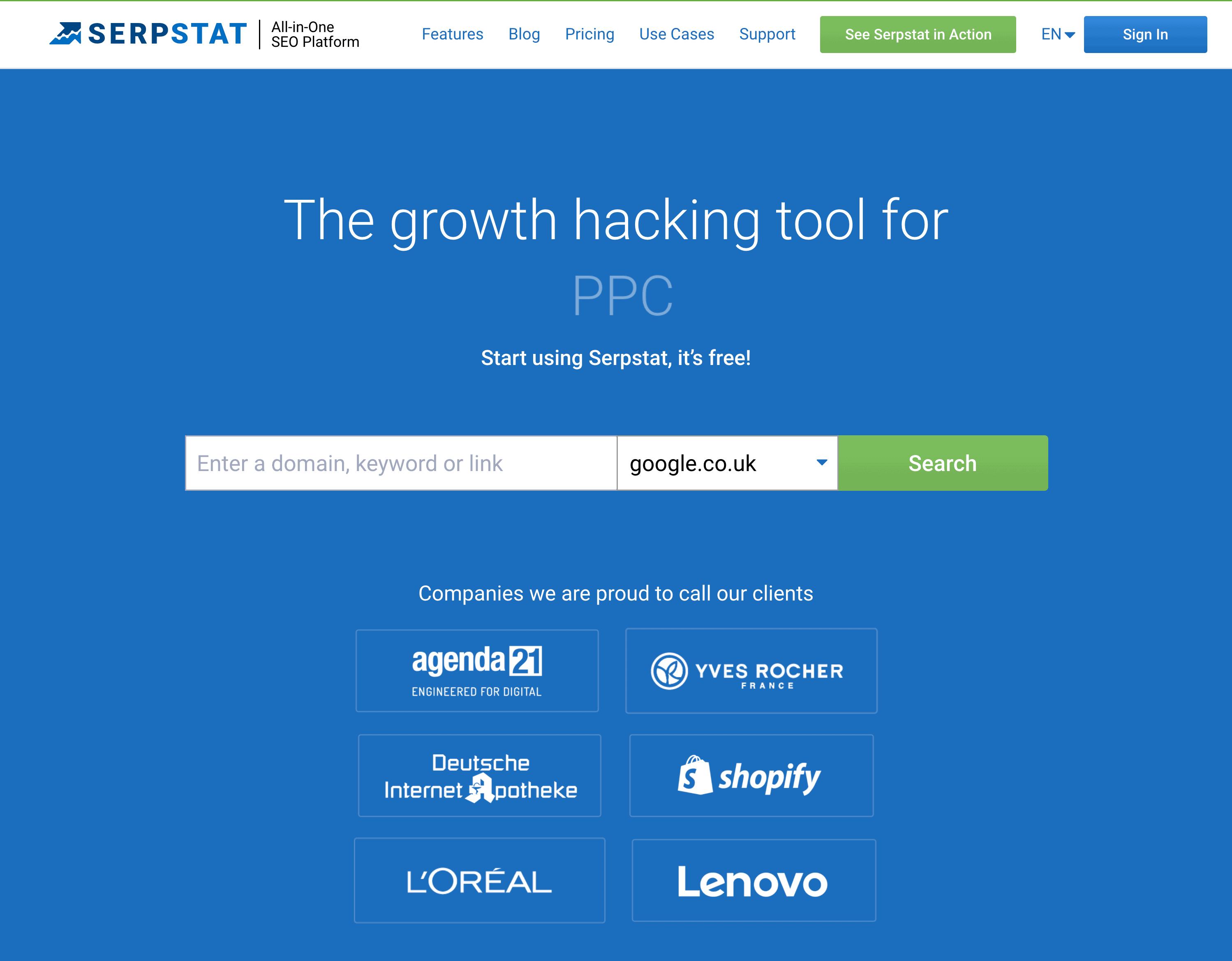 Serpstat – Homepage