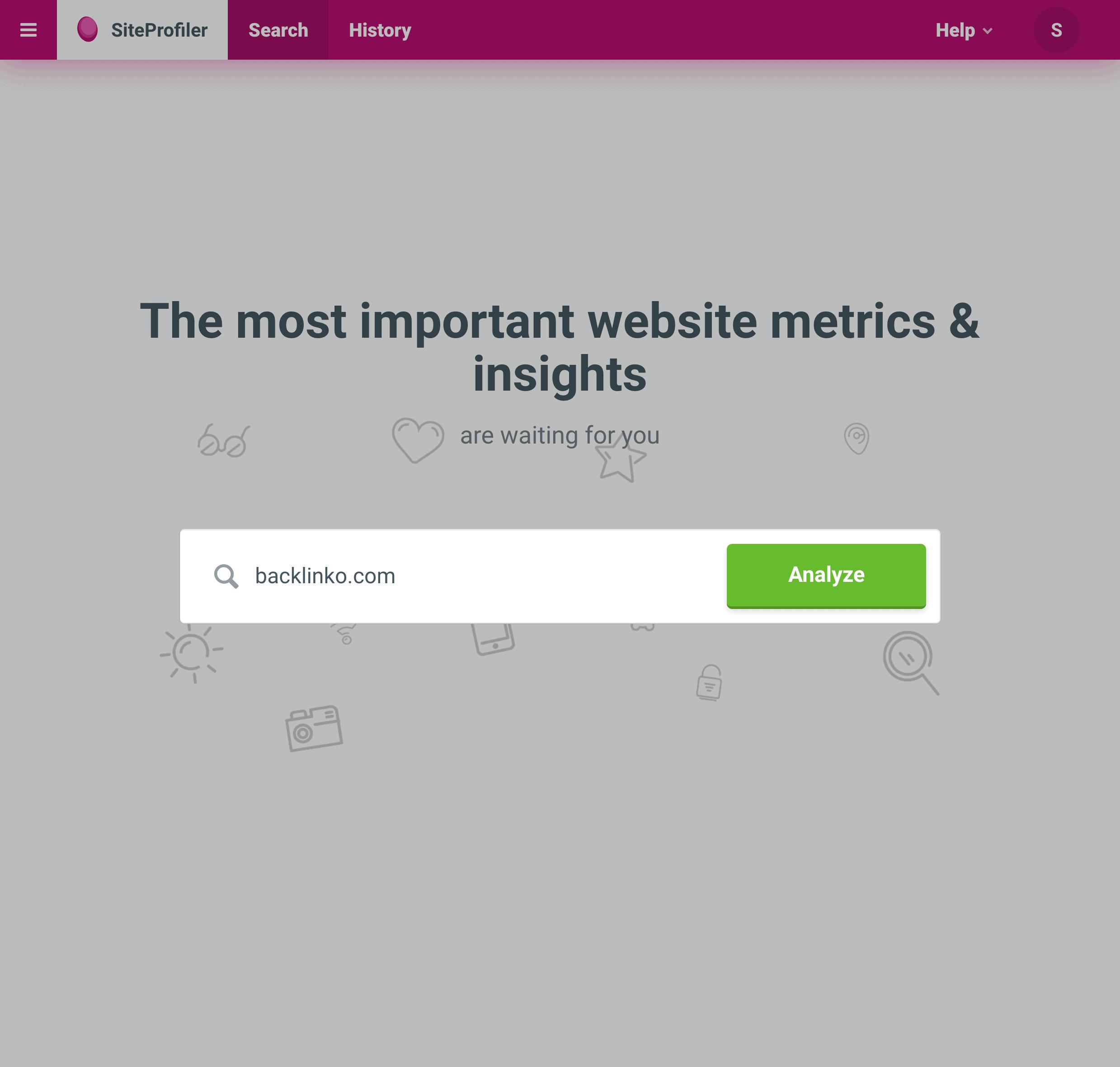 Siteprofiler – Enter Domain