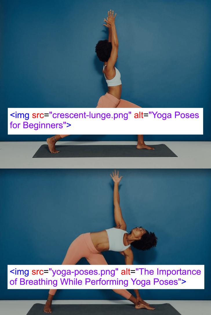Yoga Pose Alt Text Overlay