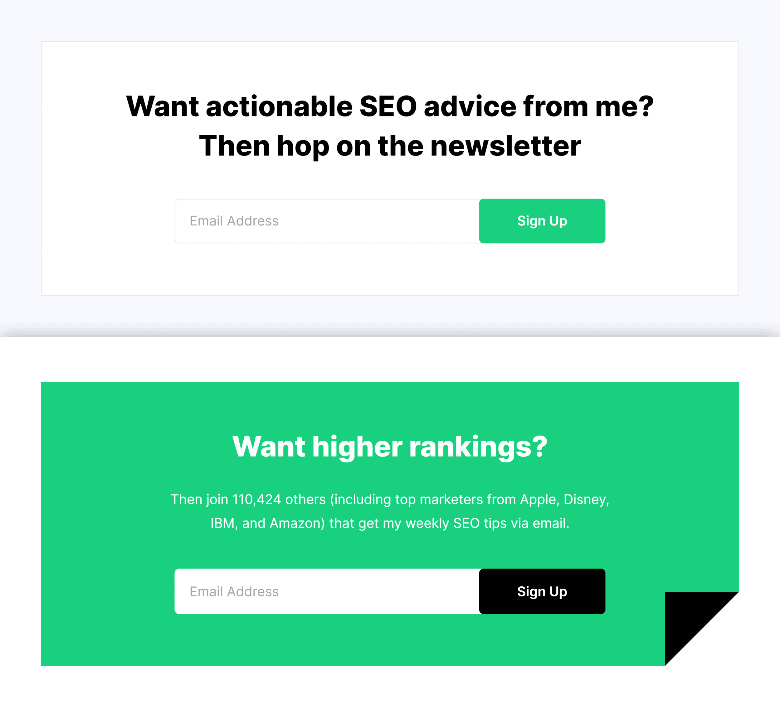 Backlinko – About Page Forms