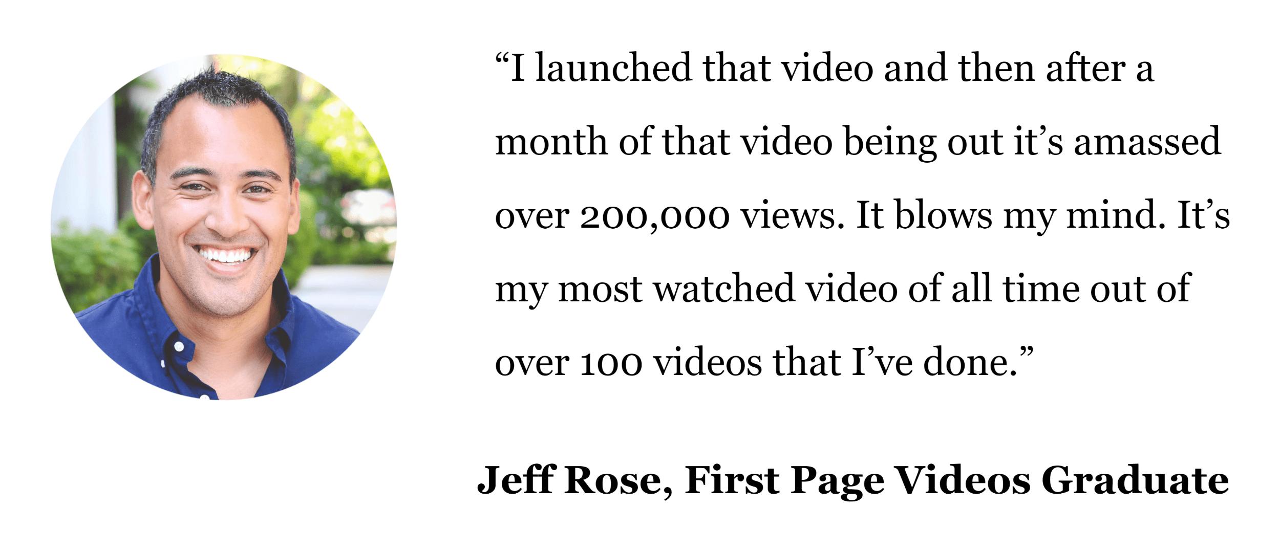 Firstpagevideos – Sales Page Testimonial