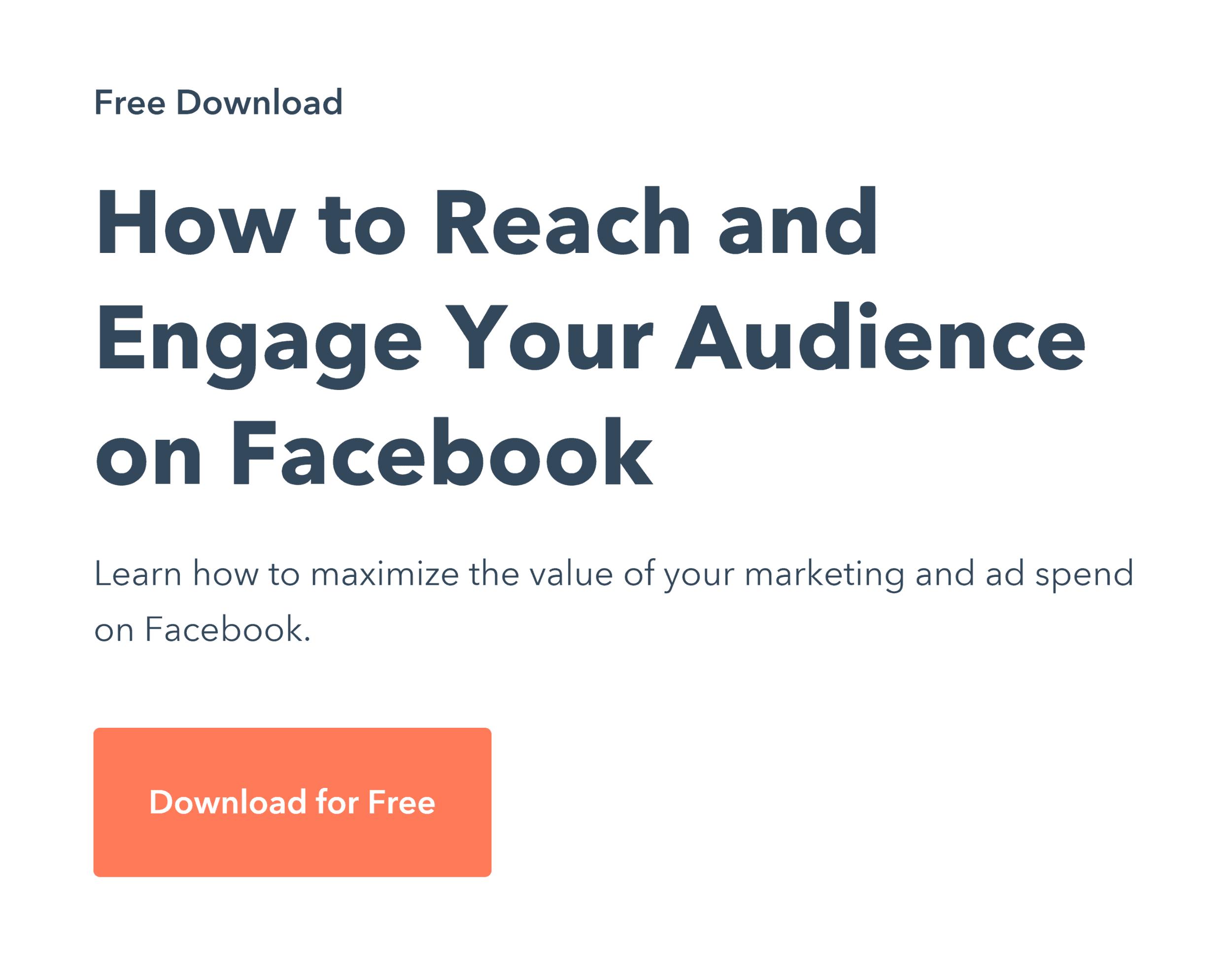 Hubspot – Facebook Offer