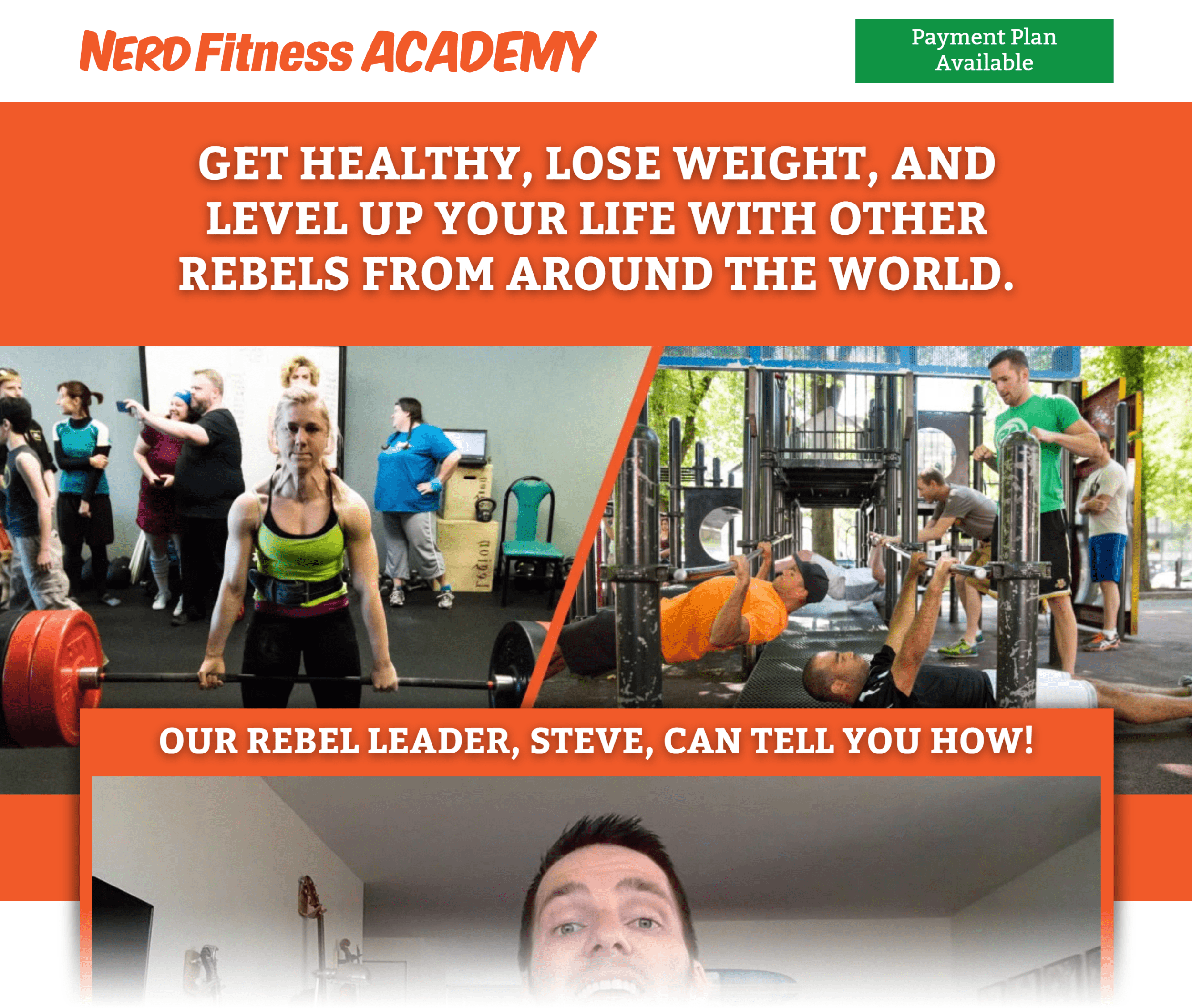 Nerdfitness Academy – Overview Page