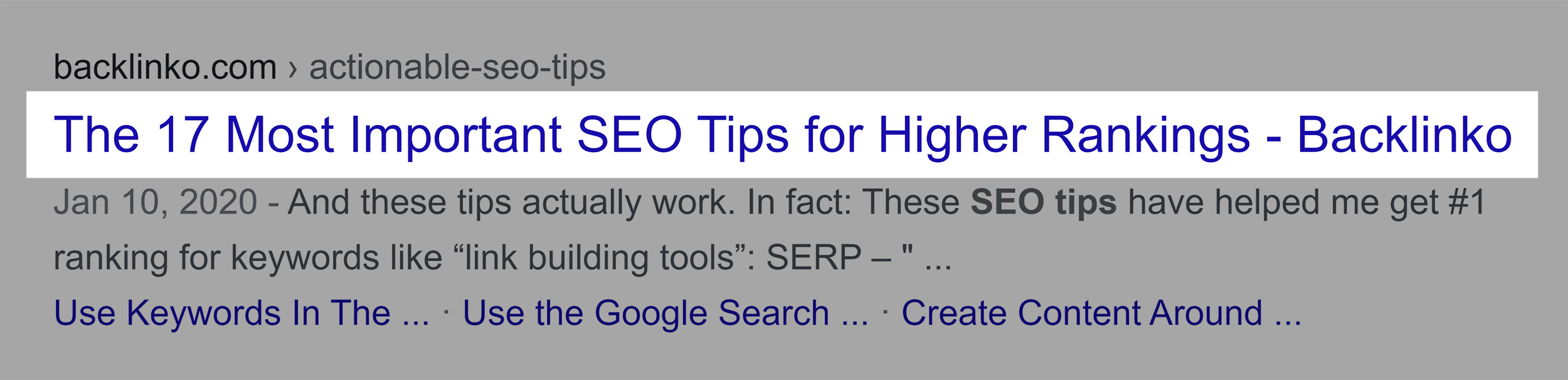 SEO Tips – Keyword In Title Tag