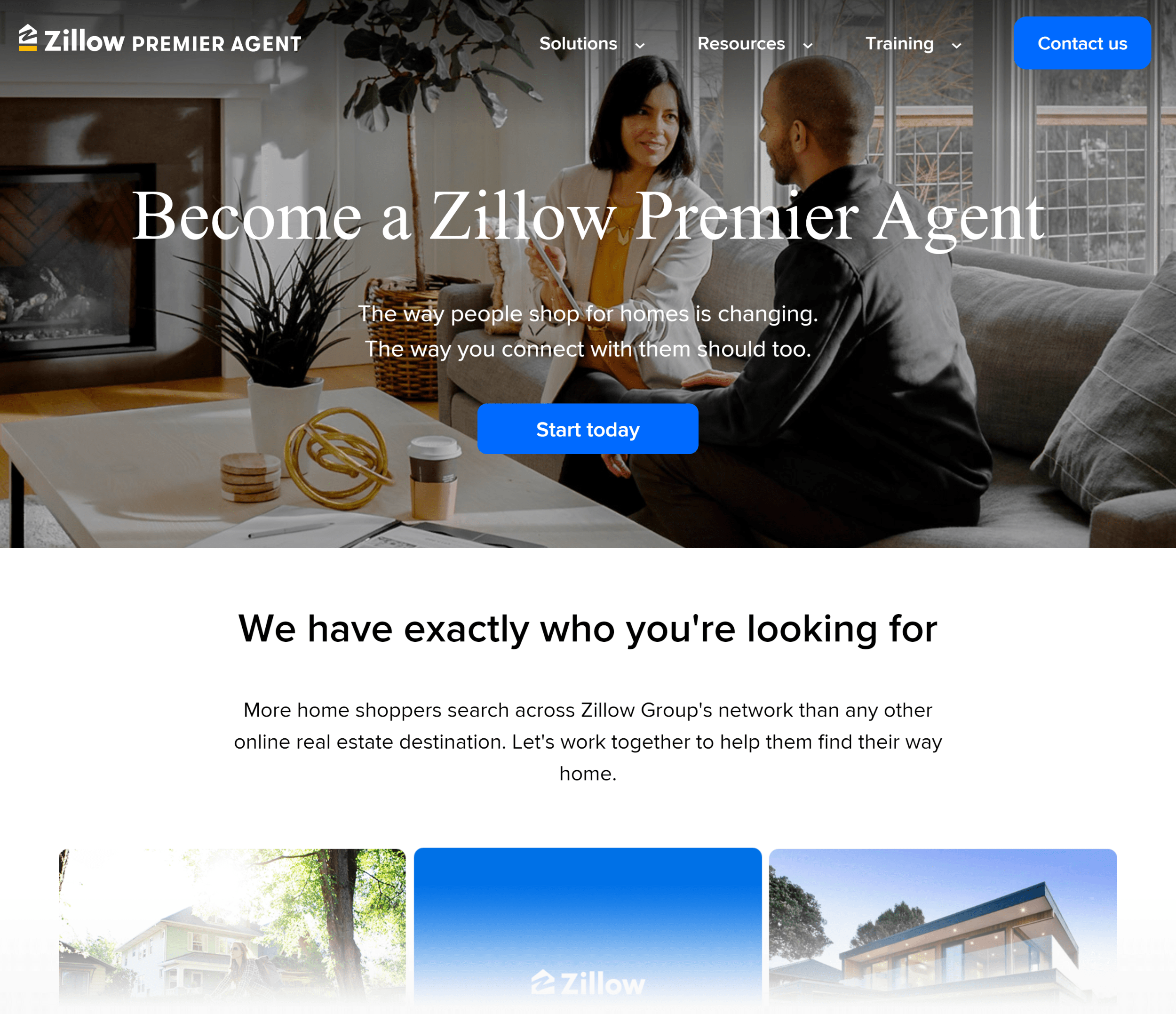 Zillow - Целевая страница
