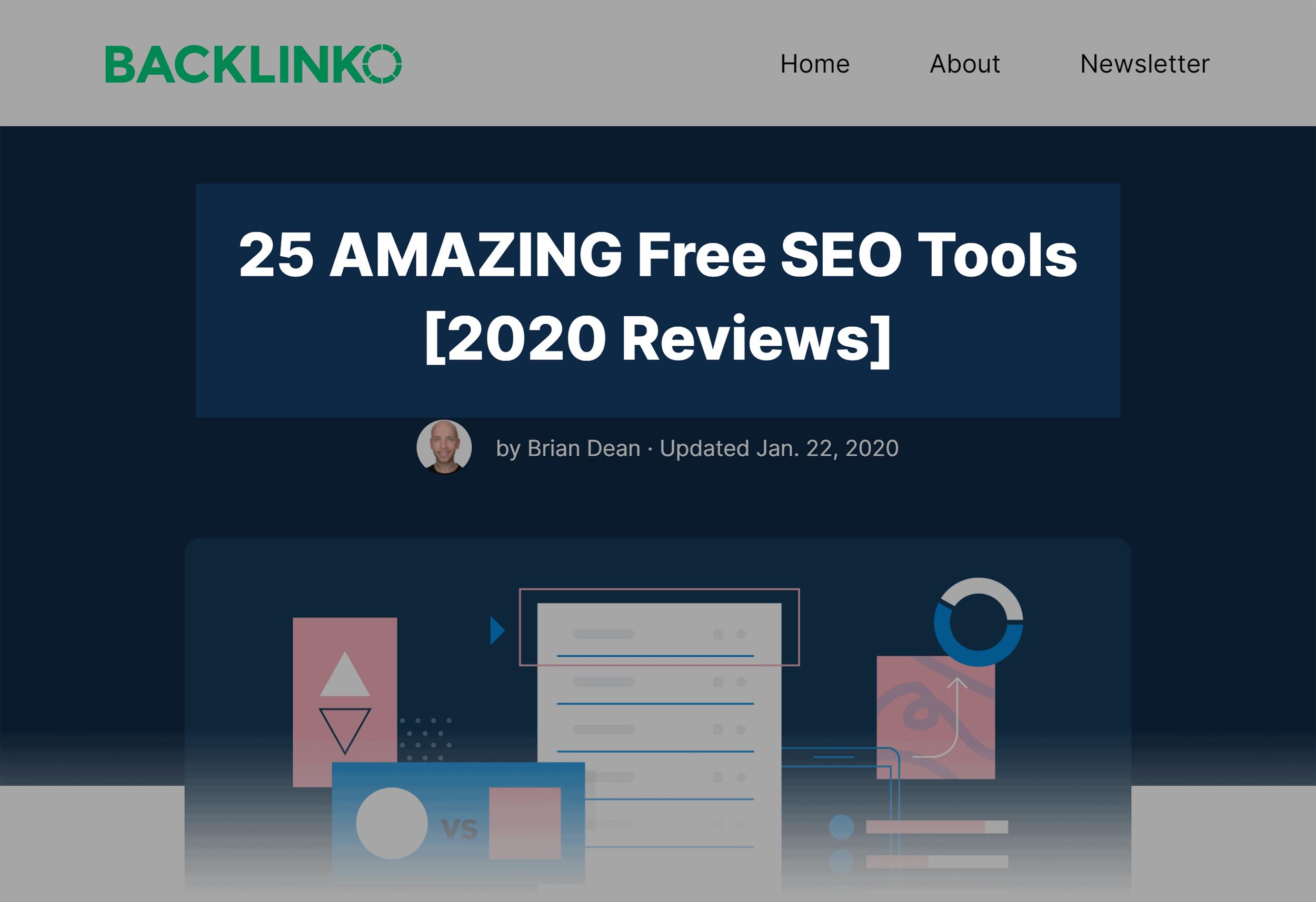 Backlinko - عنوان رایگان بهترین ابزارهای جستجوگرها رایگان