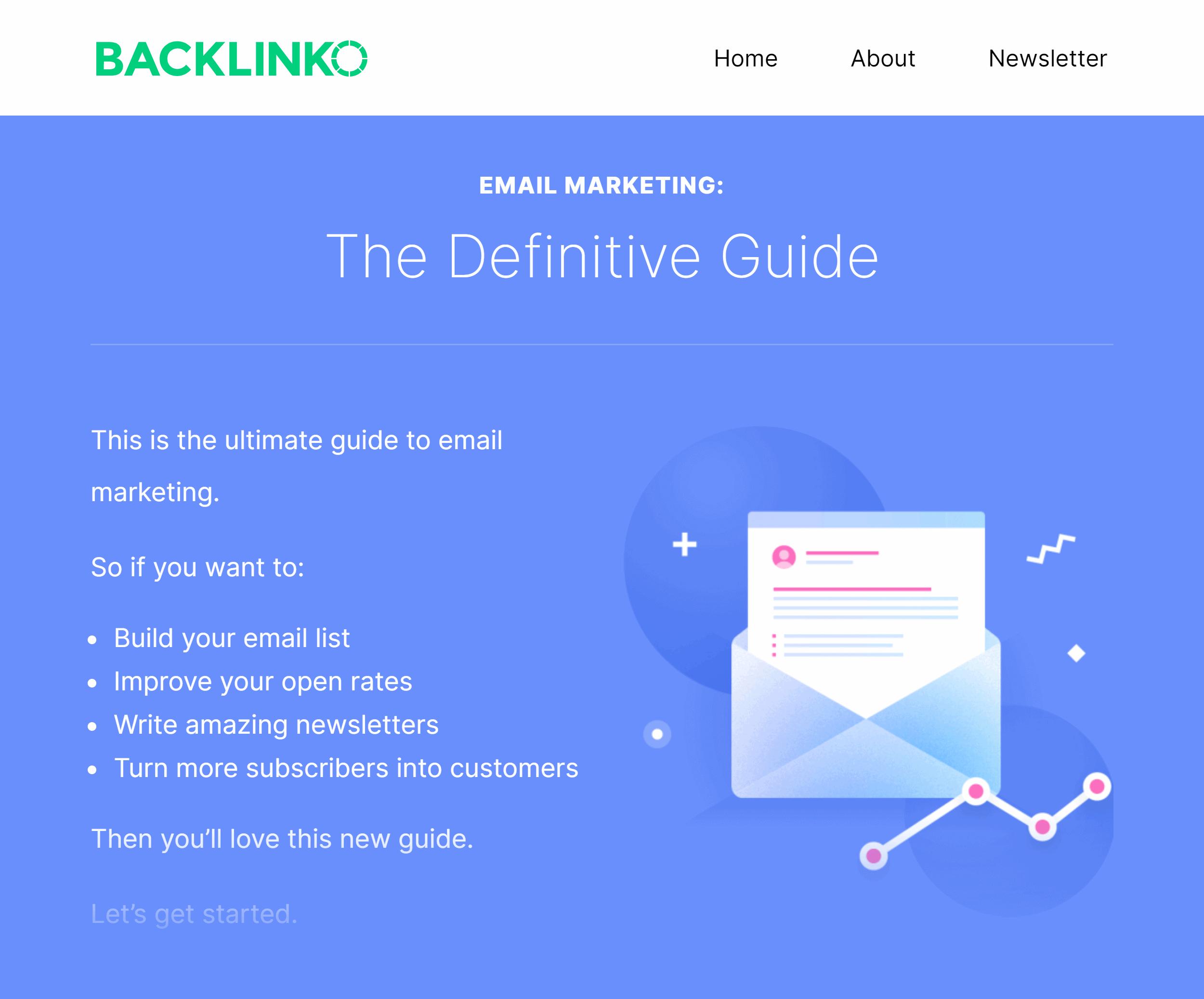 Backlinko – Custom Post Design