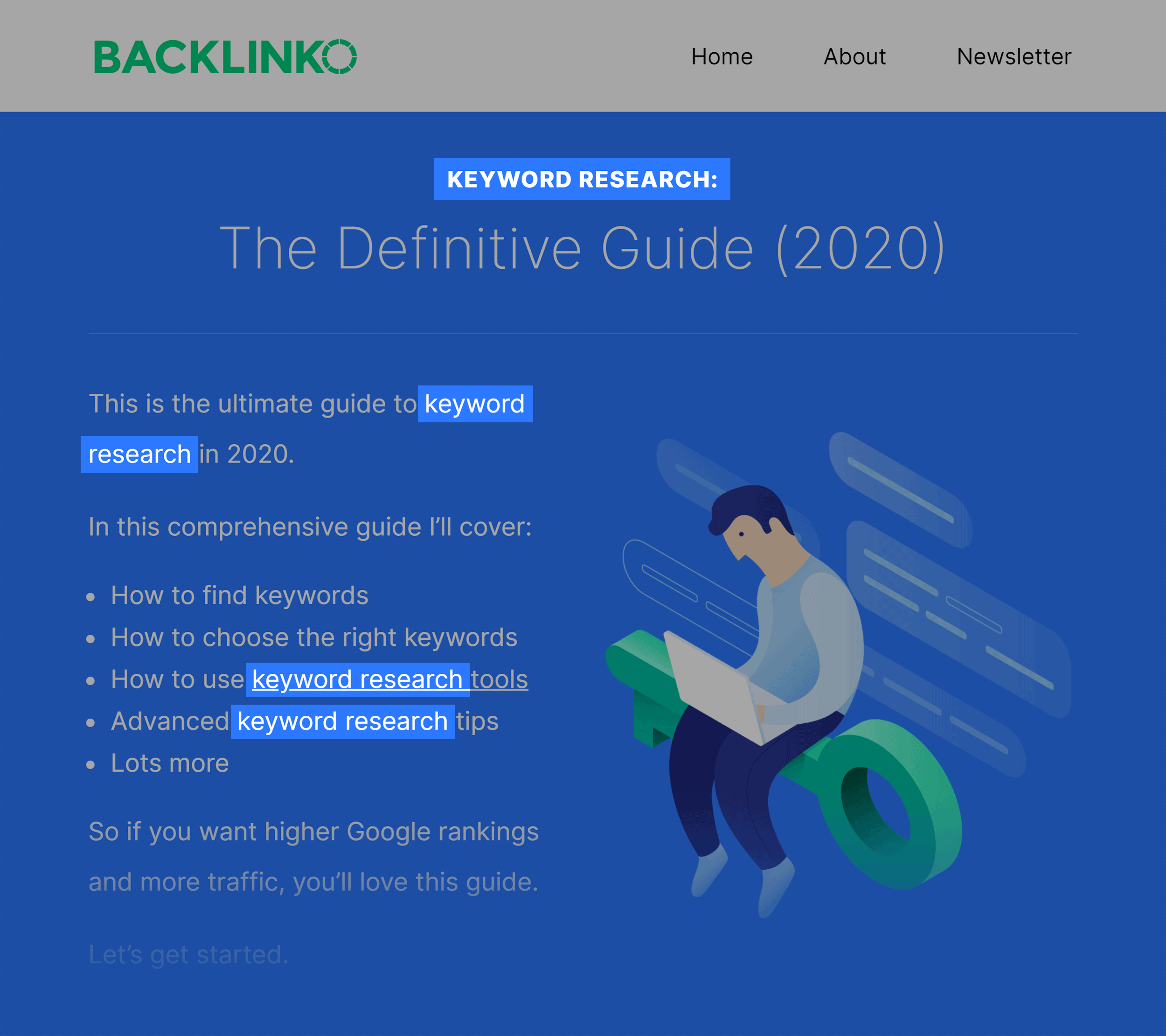 Backlinko – Keyword Research Guide Keyword
