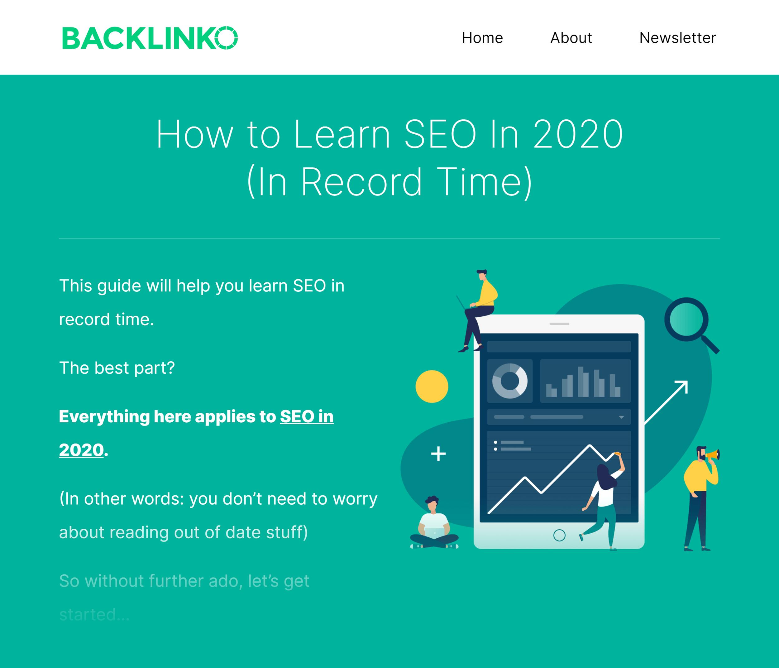 Backlinko Learn SEO Fast Guide