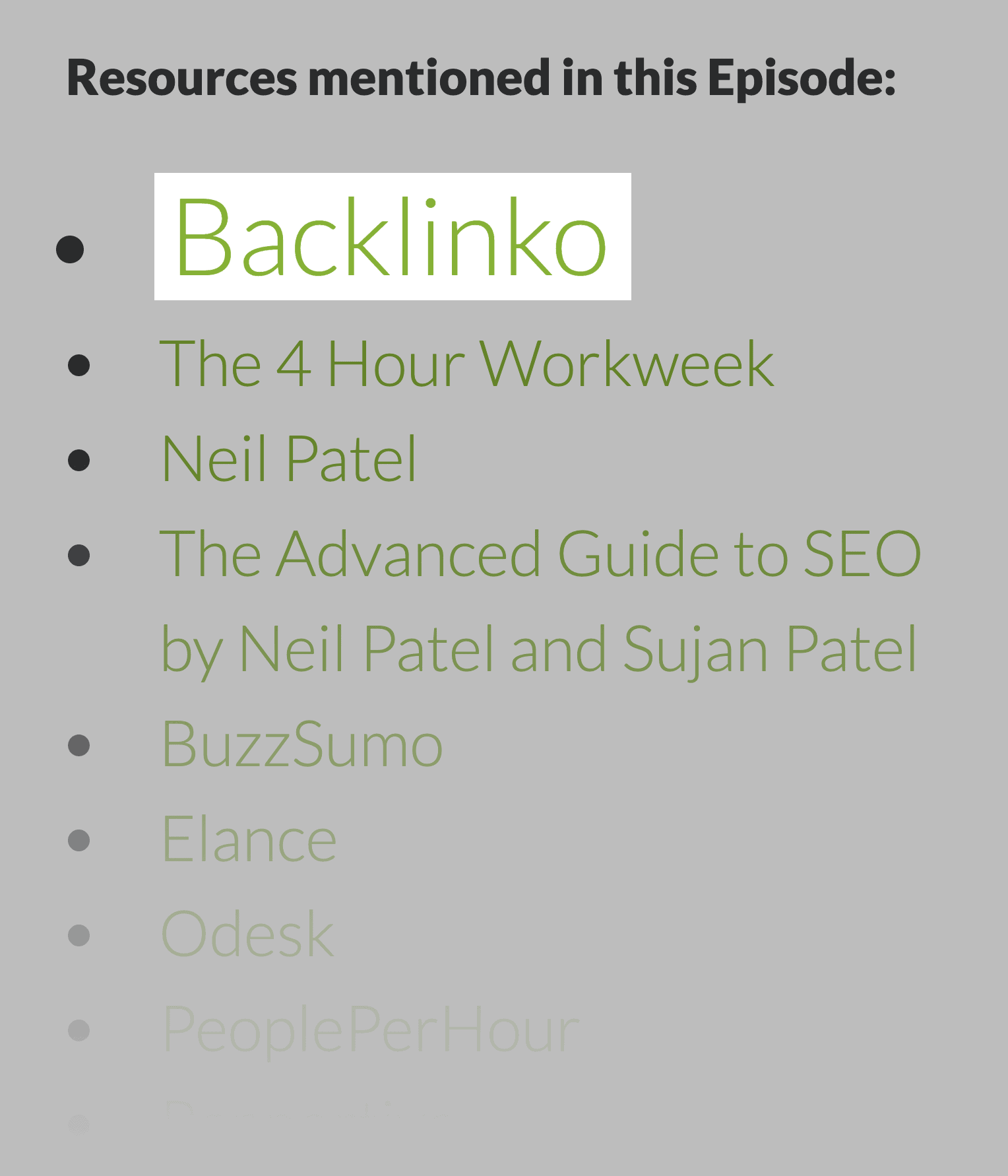 Backlinko – Mentioned In Podcast