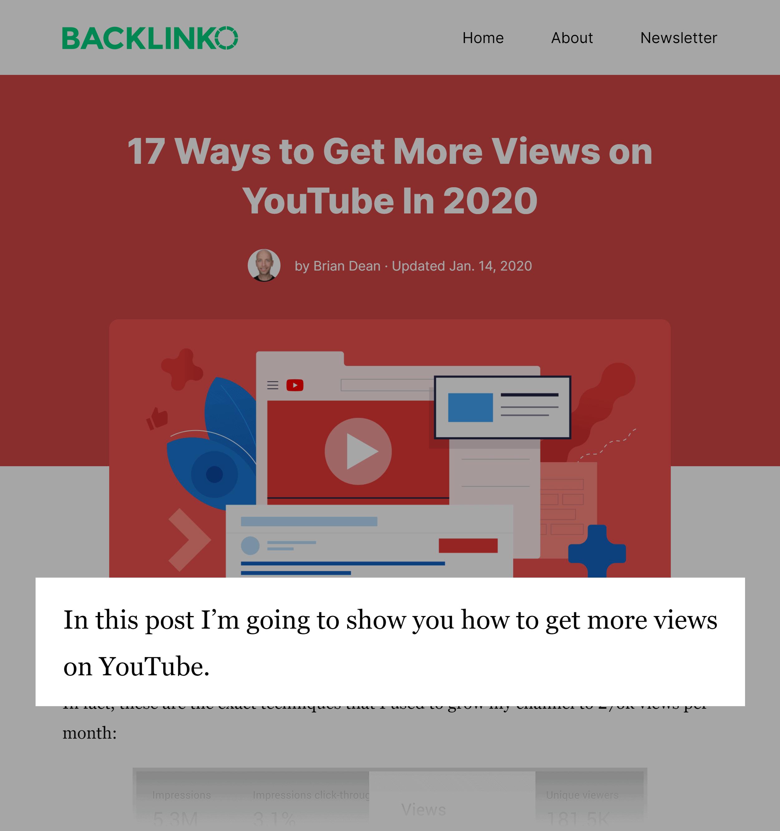 Backlinko – Post Promise