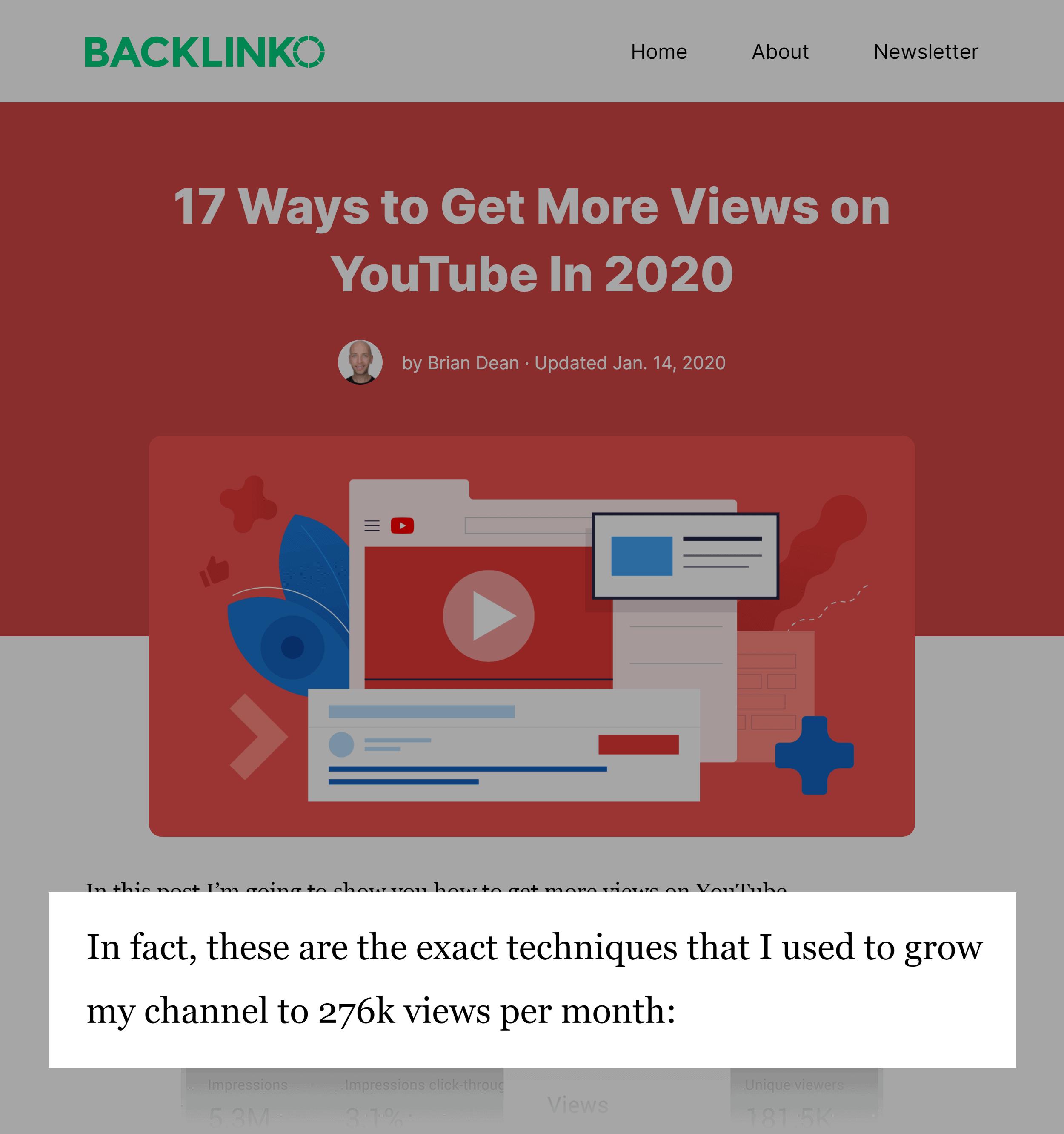 Backlinko – Post Proof