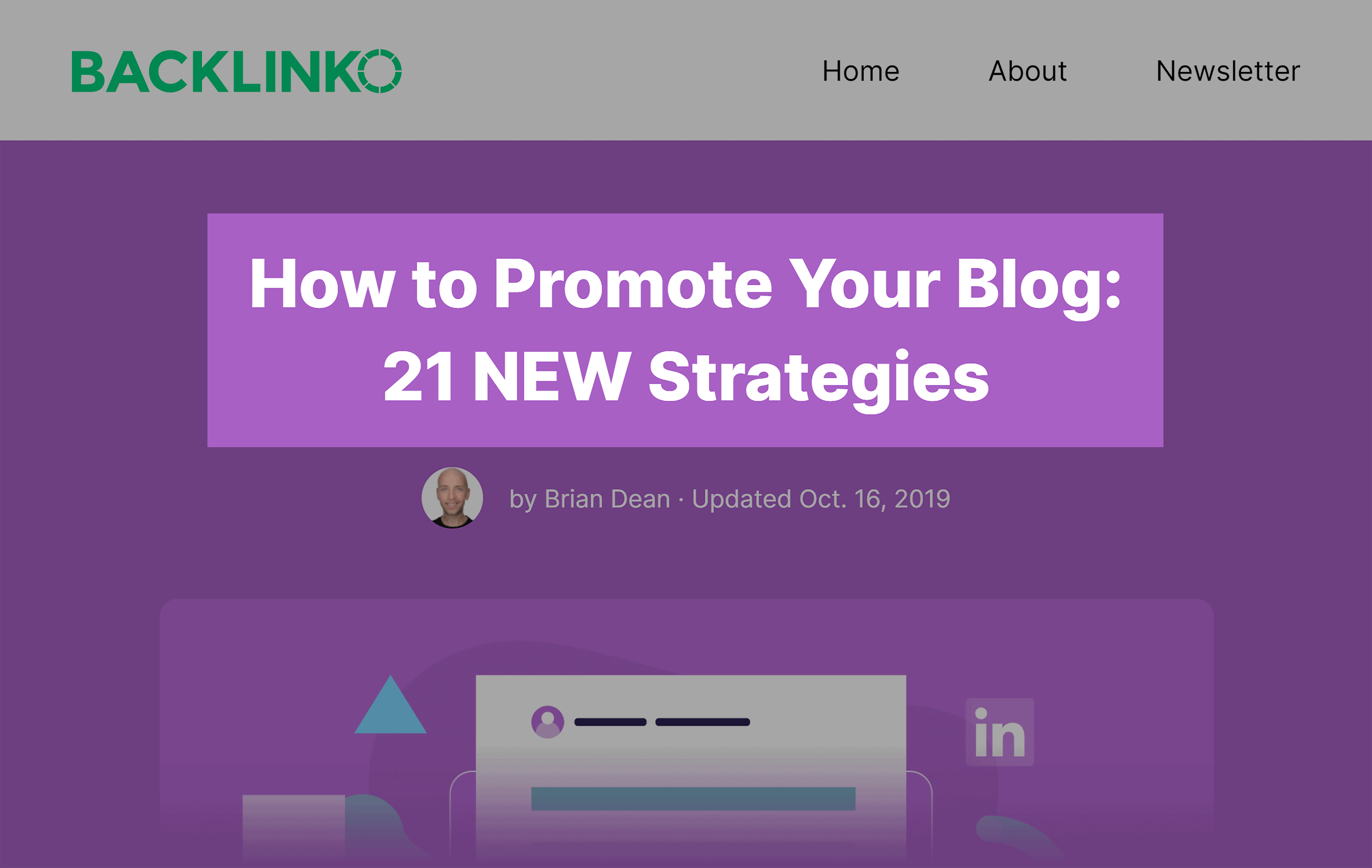 Backlinko – Promote Your Blog Post