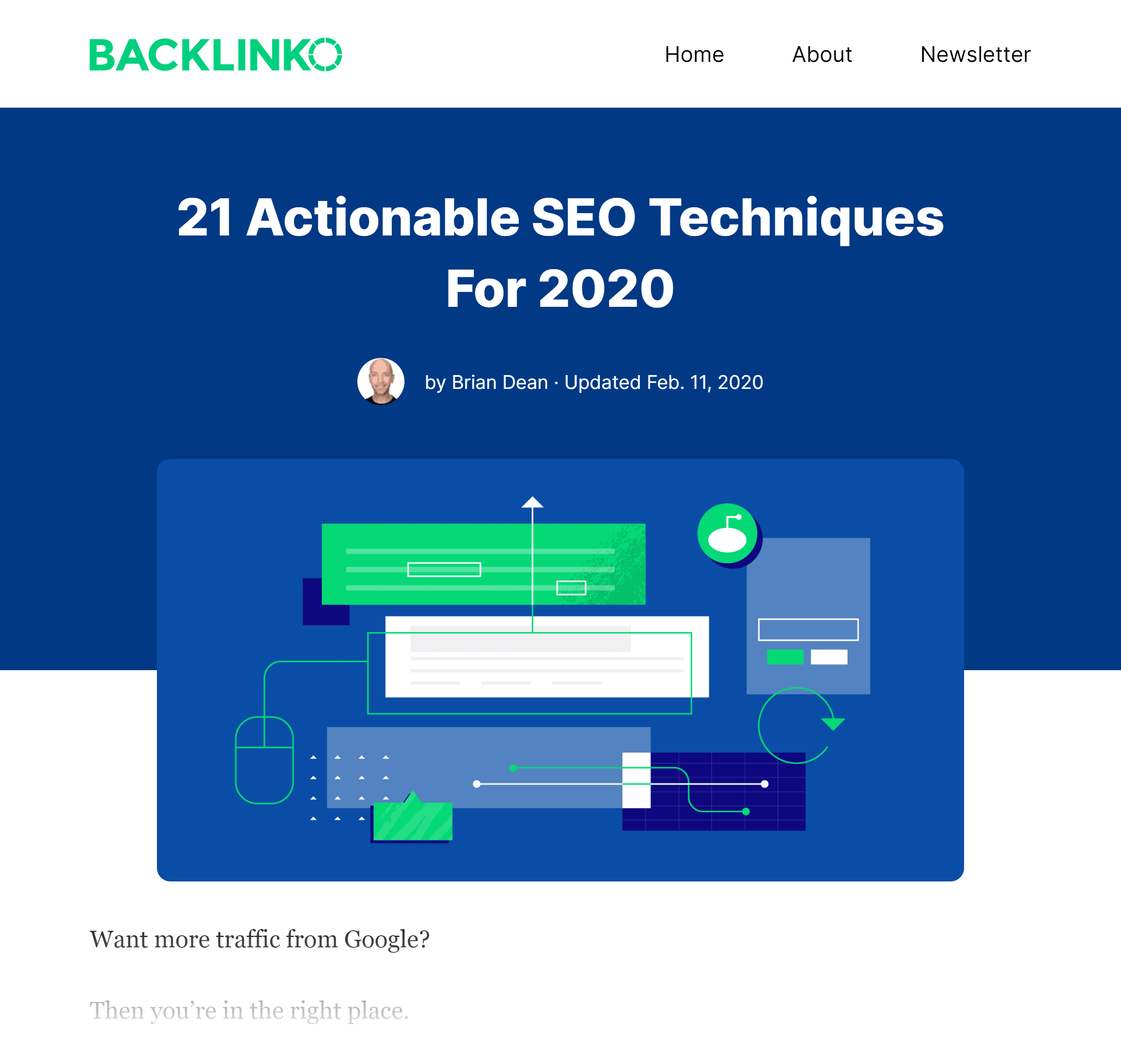 Backlinko – SEO Techniques Post