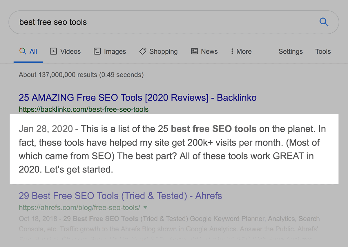 Best Free SEO Tools Post Meta Description
