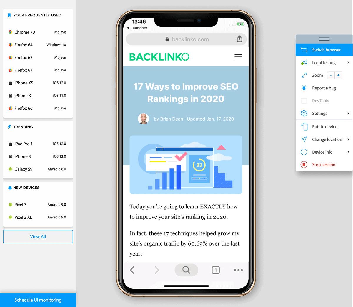 Browserstack – Backlinko Website