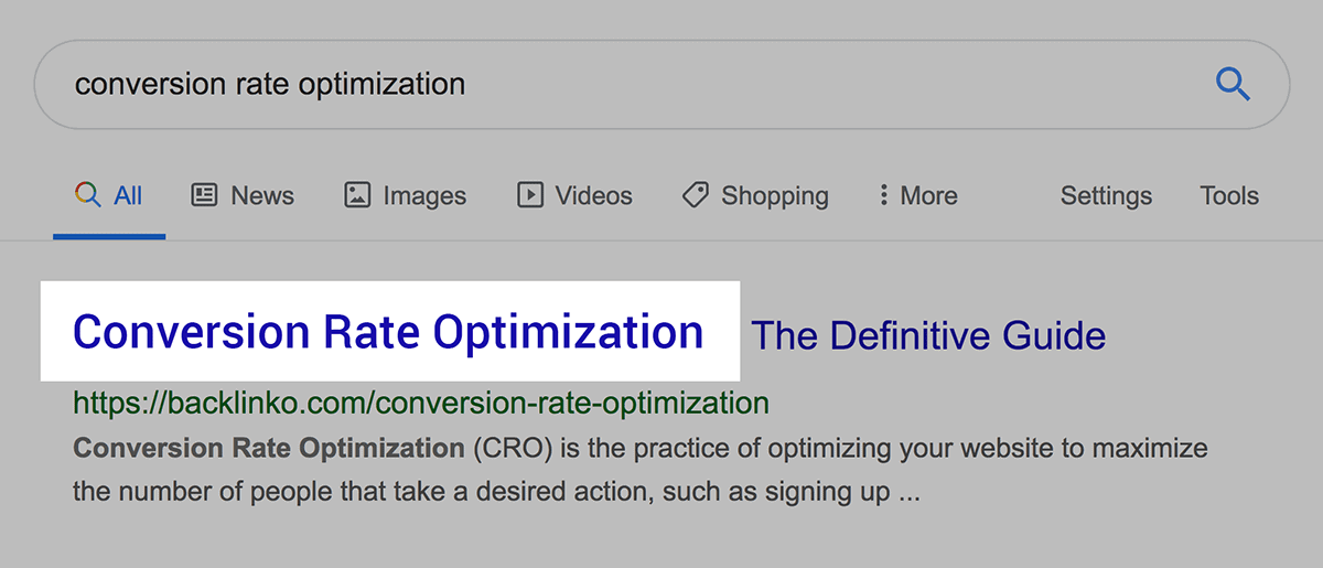 Conversion Rate Optimization Keyword In Post Title