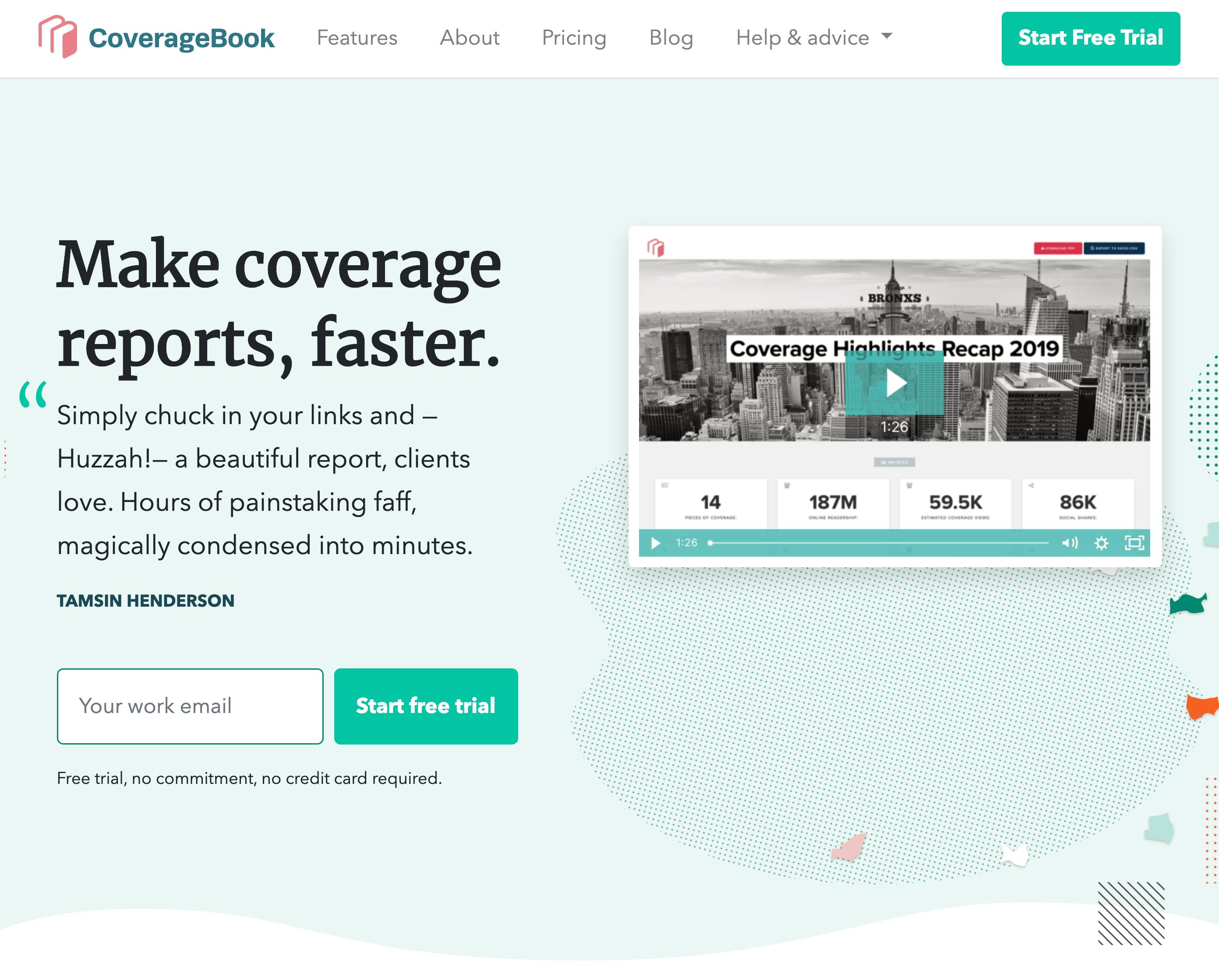 Coveragebook – Homepage