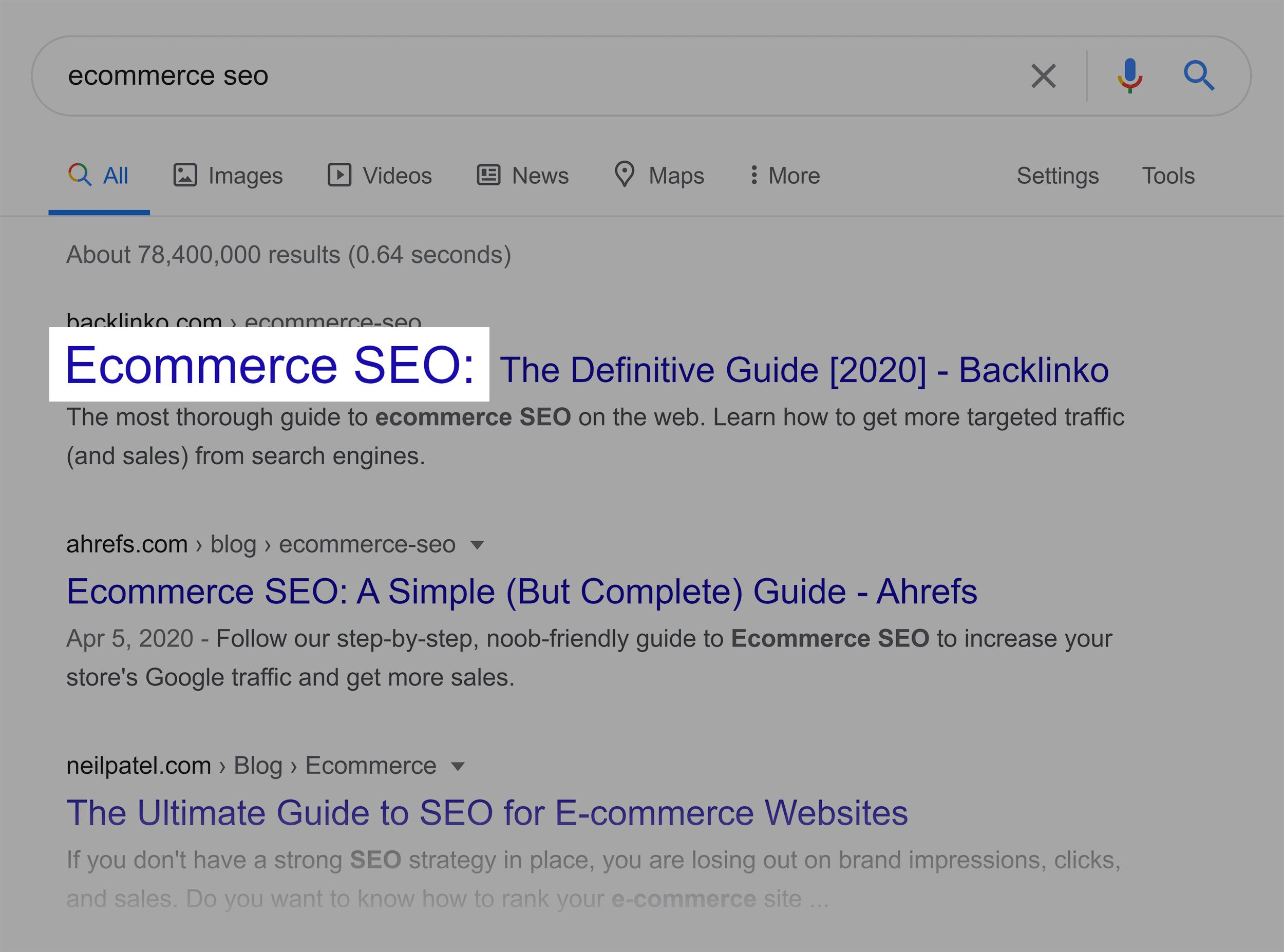 تجارت الکترونیکی سئو Google SERP
