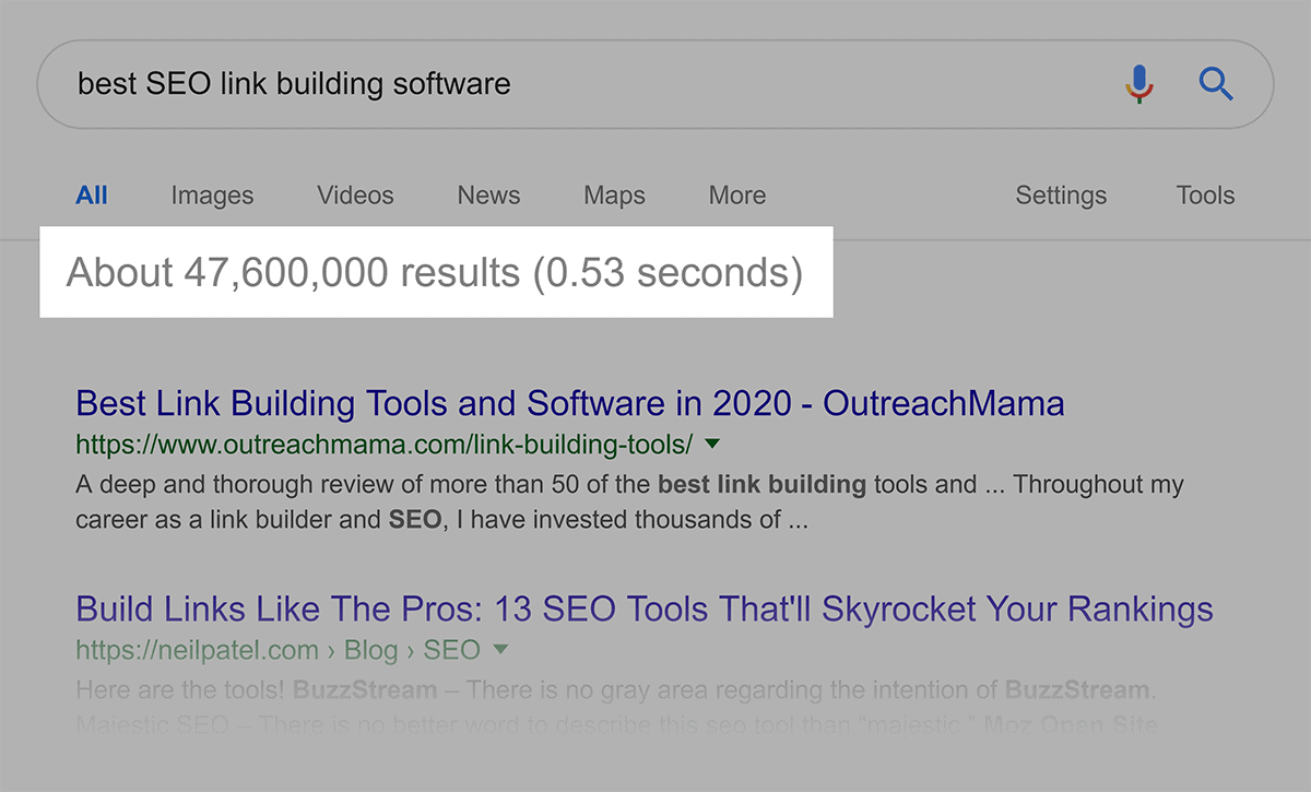 Google Search Results SEO Software