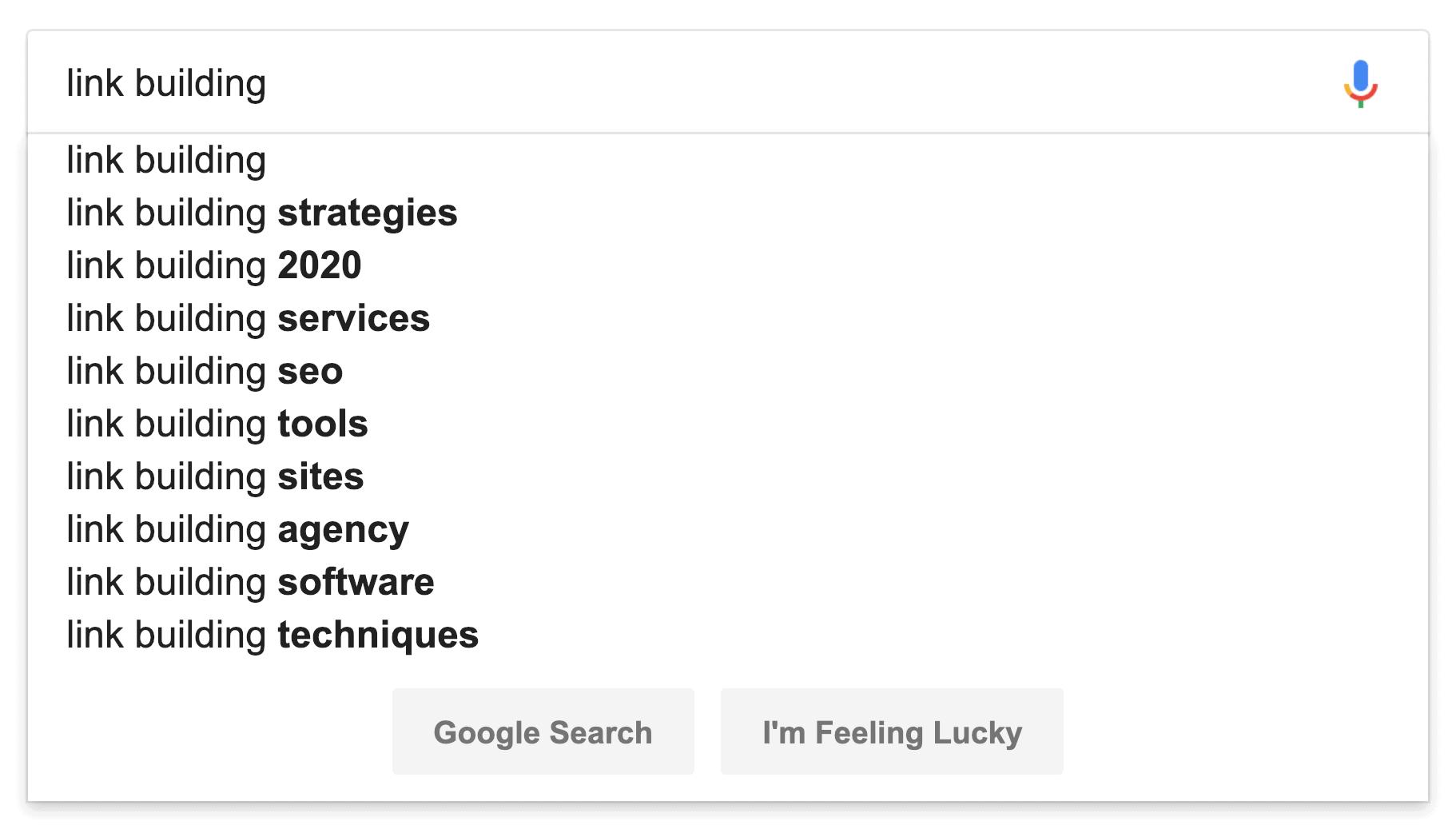Google Suggest Link Building