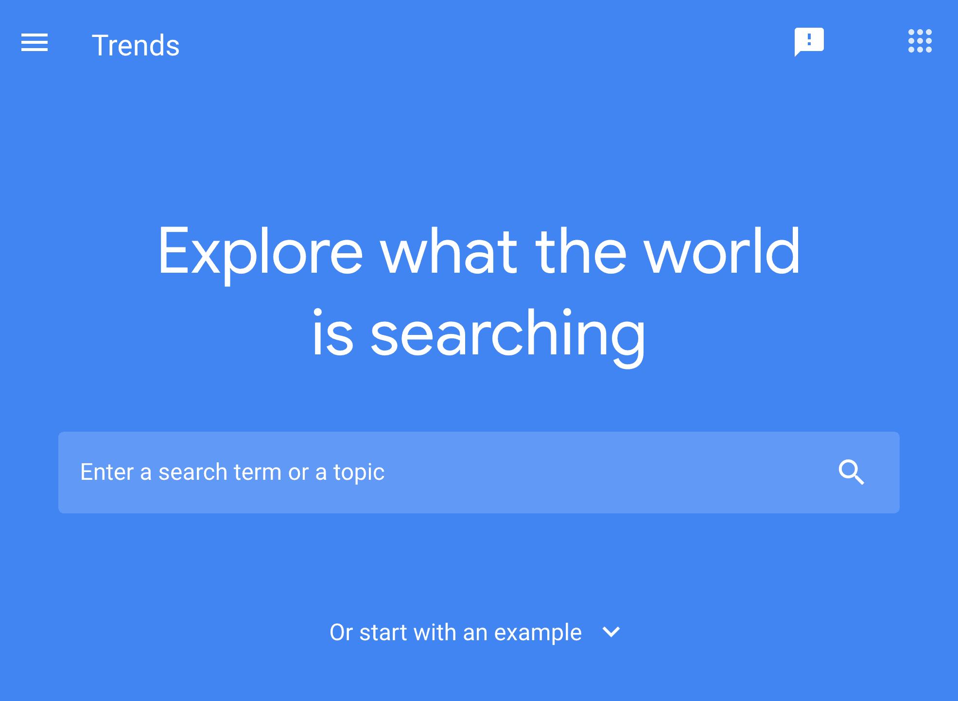 Google Trends – Homepage