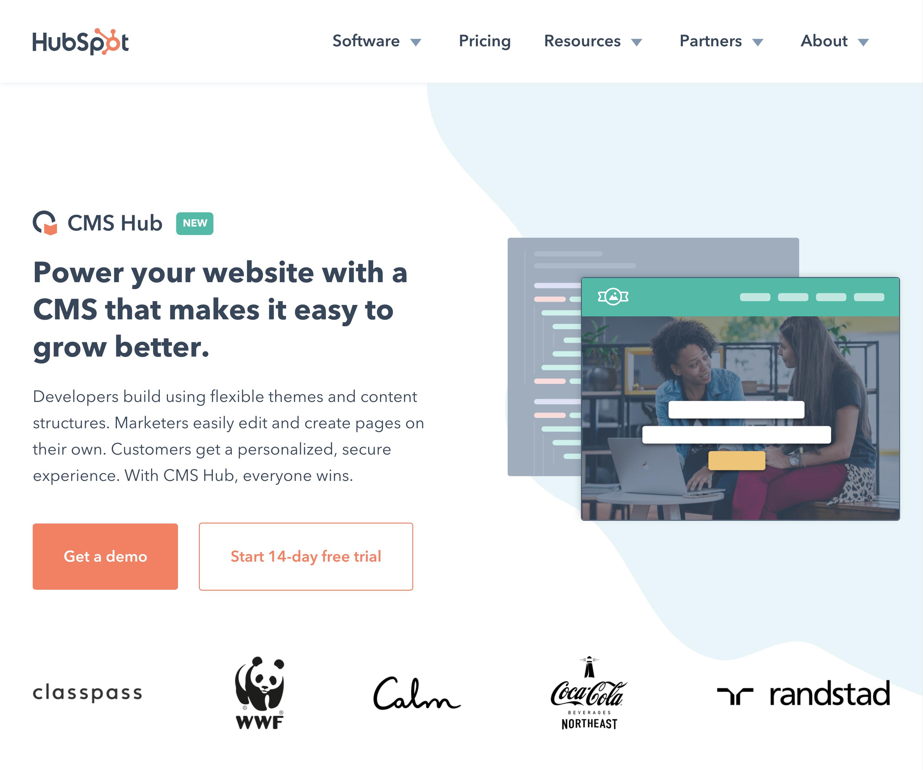 Hubspot – CMS Hub Page
