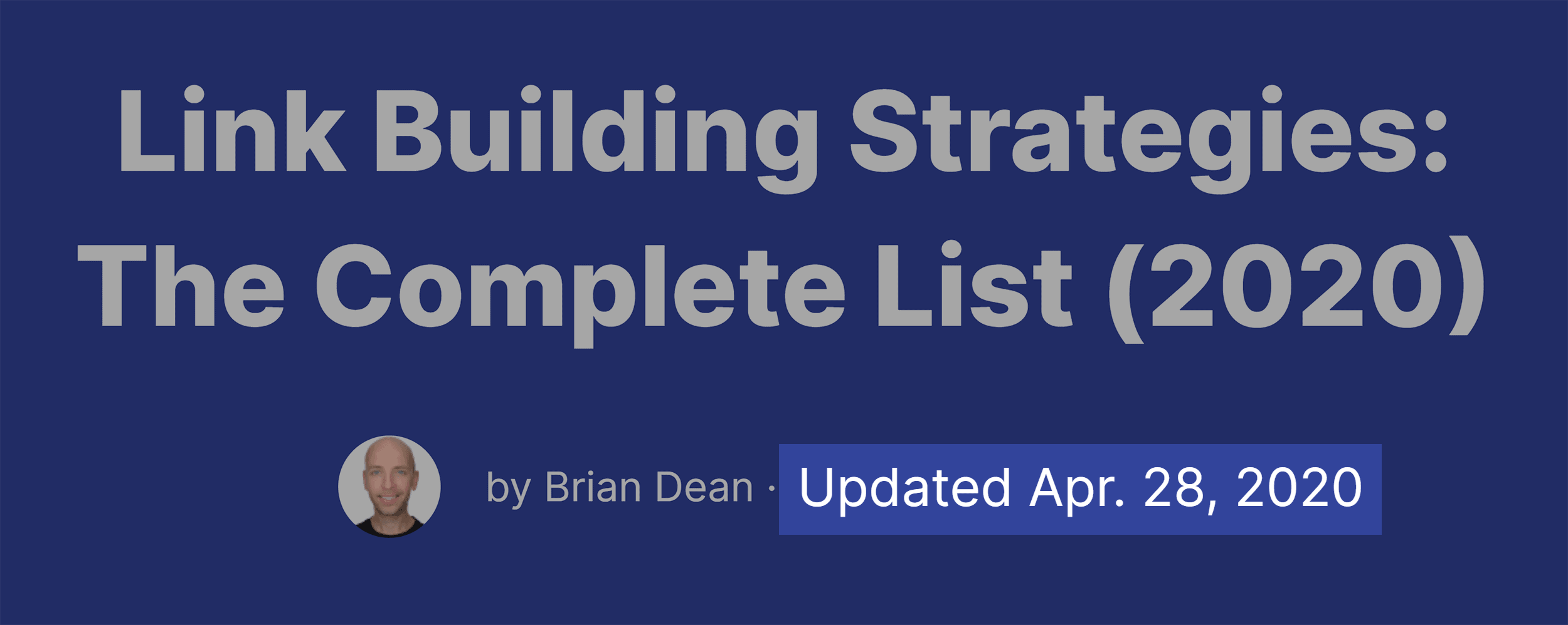 Link Building Strategies Update Date
