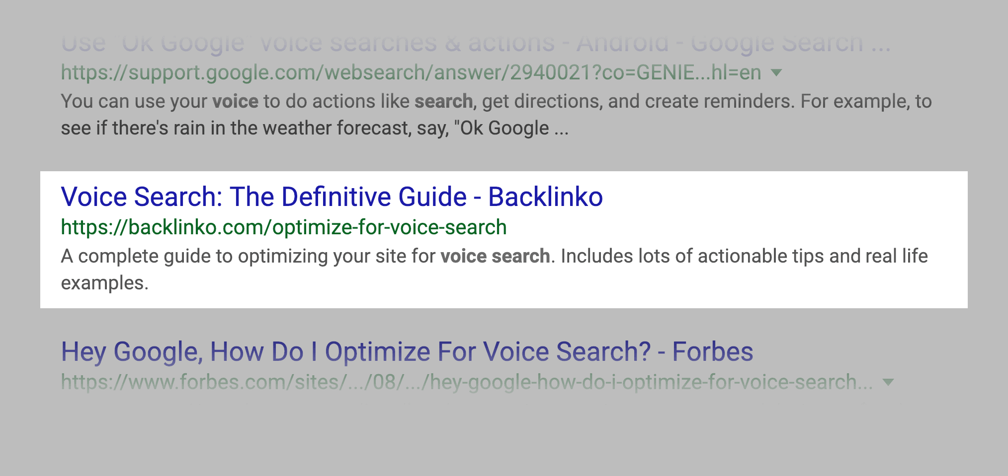 Normal Snippet In SERP