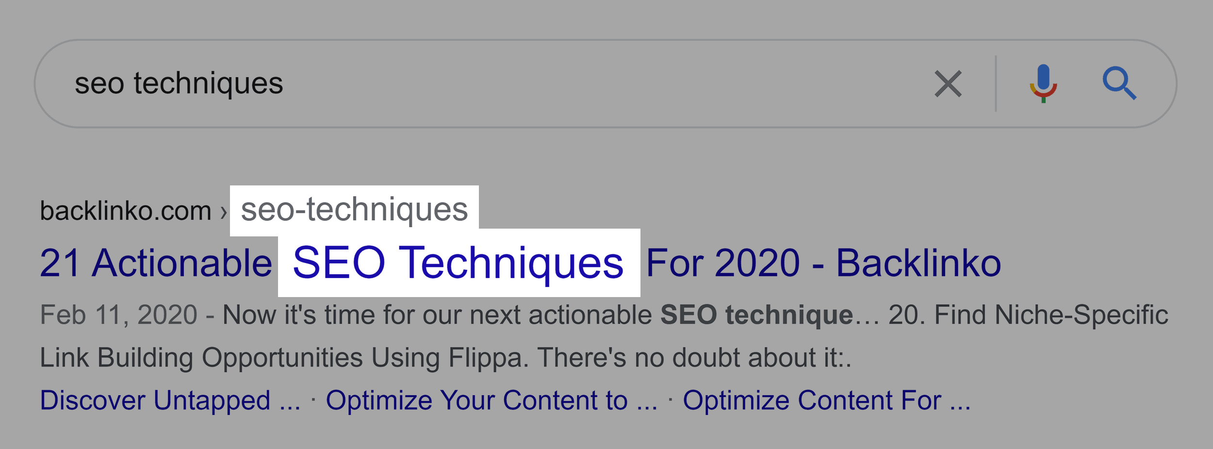 SEO Techniques In Title And URL
