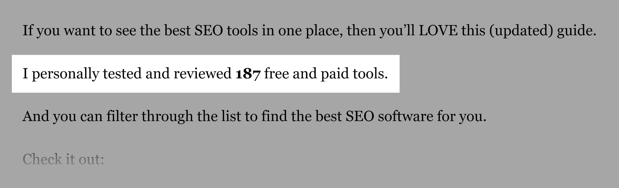 SEO Tools Post Number Of Tools