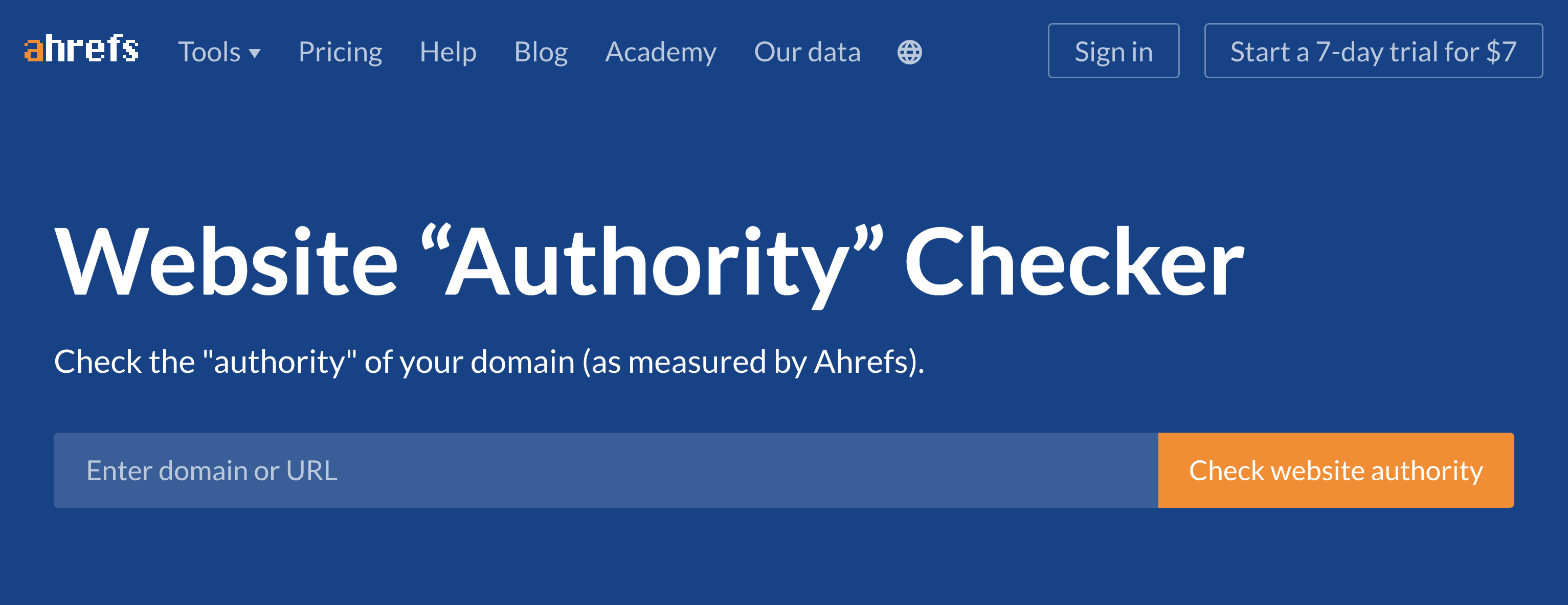 Ahrefs – Free website authority checker
