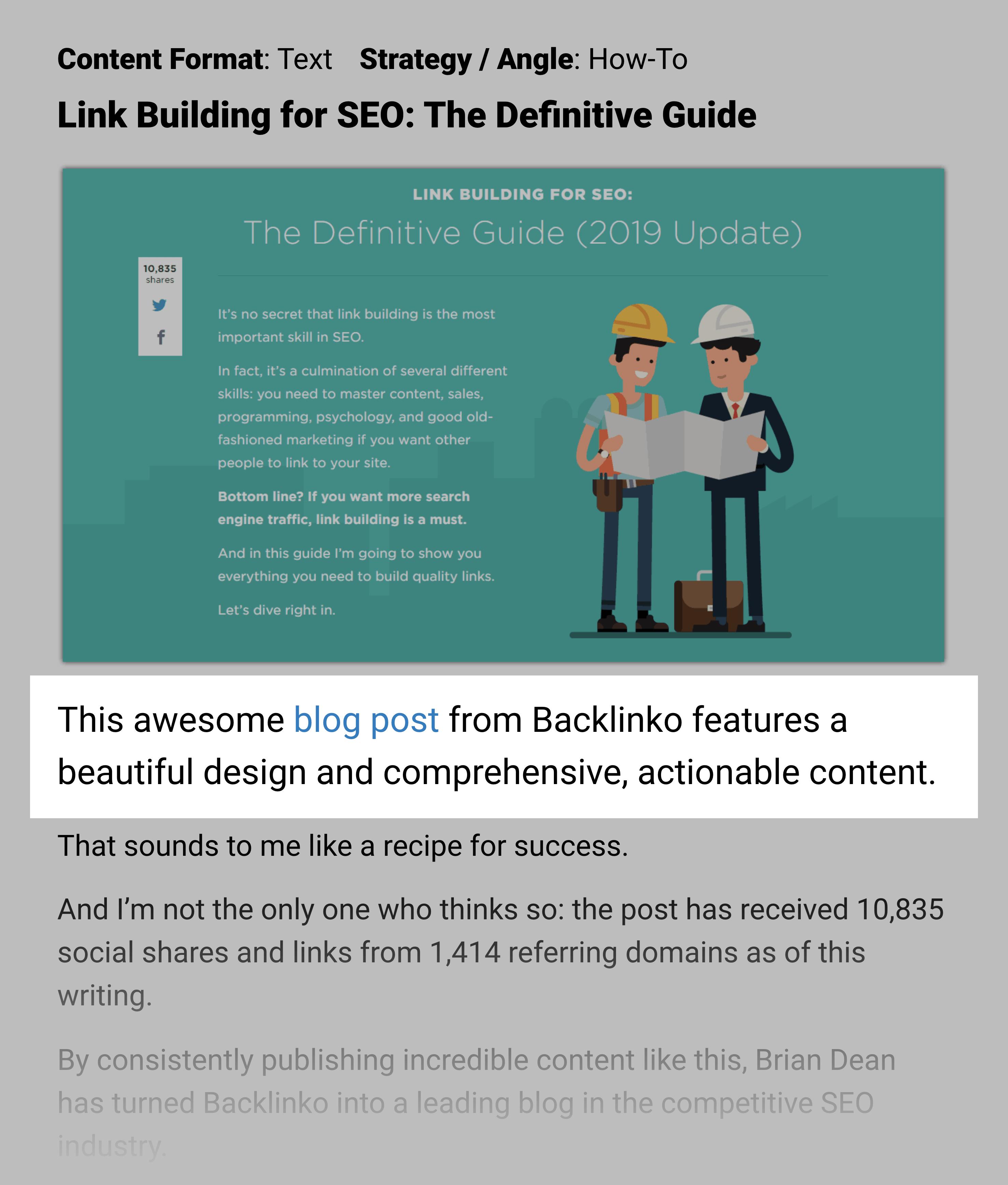 Backlinko Post Design Cited By Growthbadger
