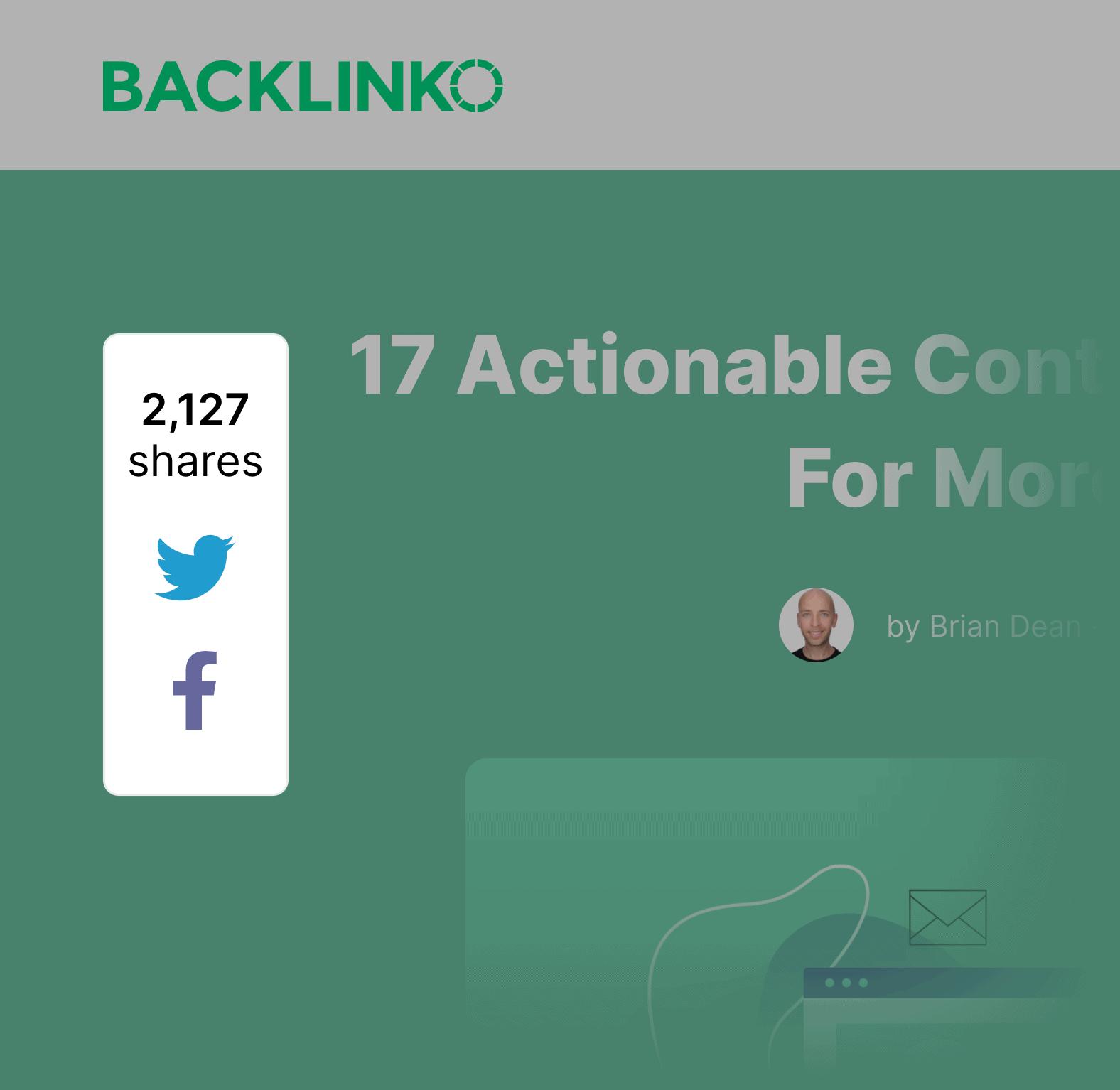 Backlinko – Social Share Widget