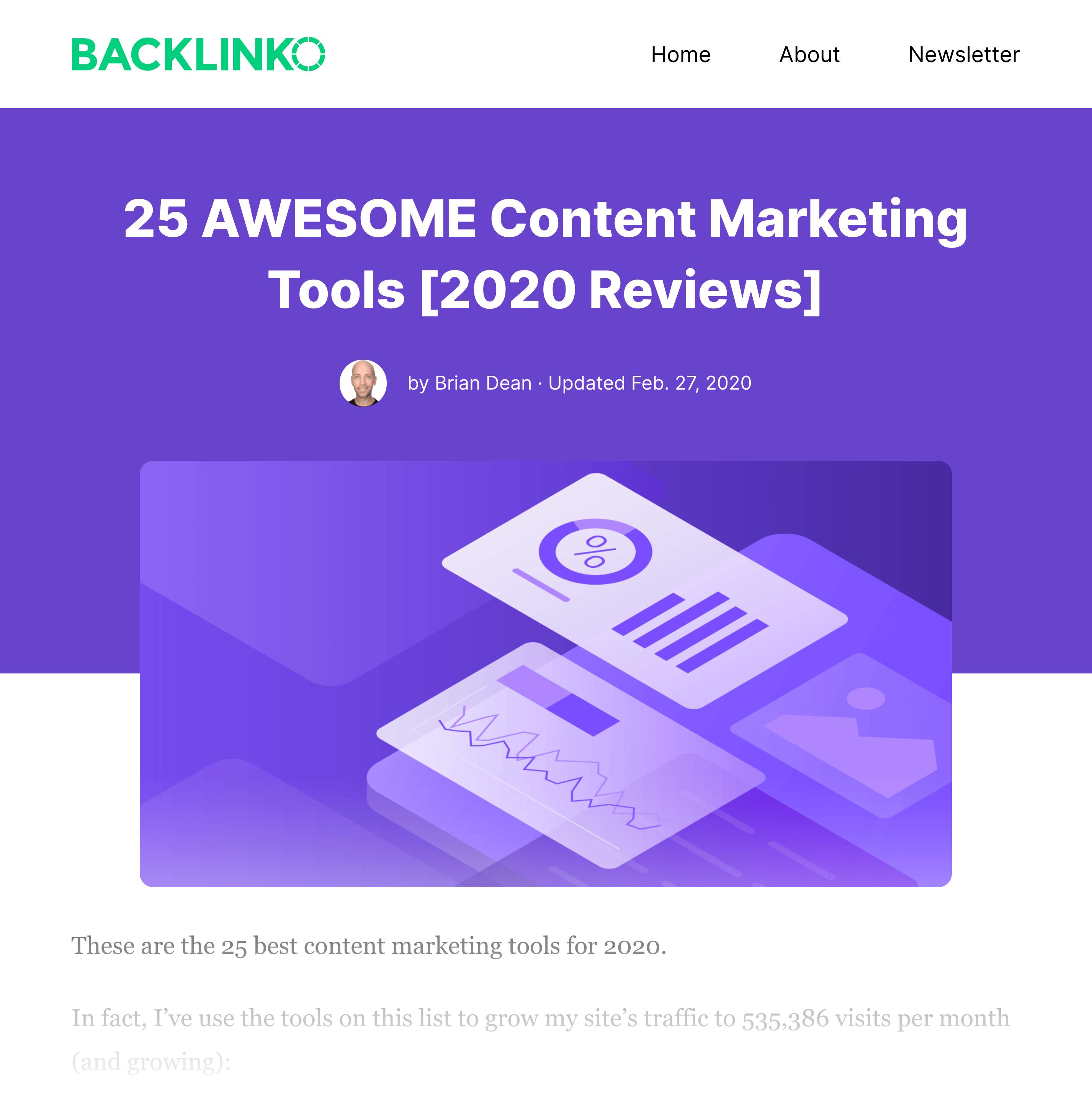 Best Content Marketing Tools Post