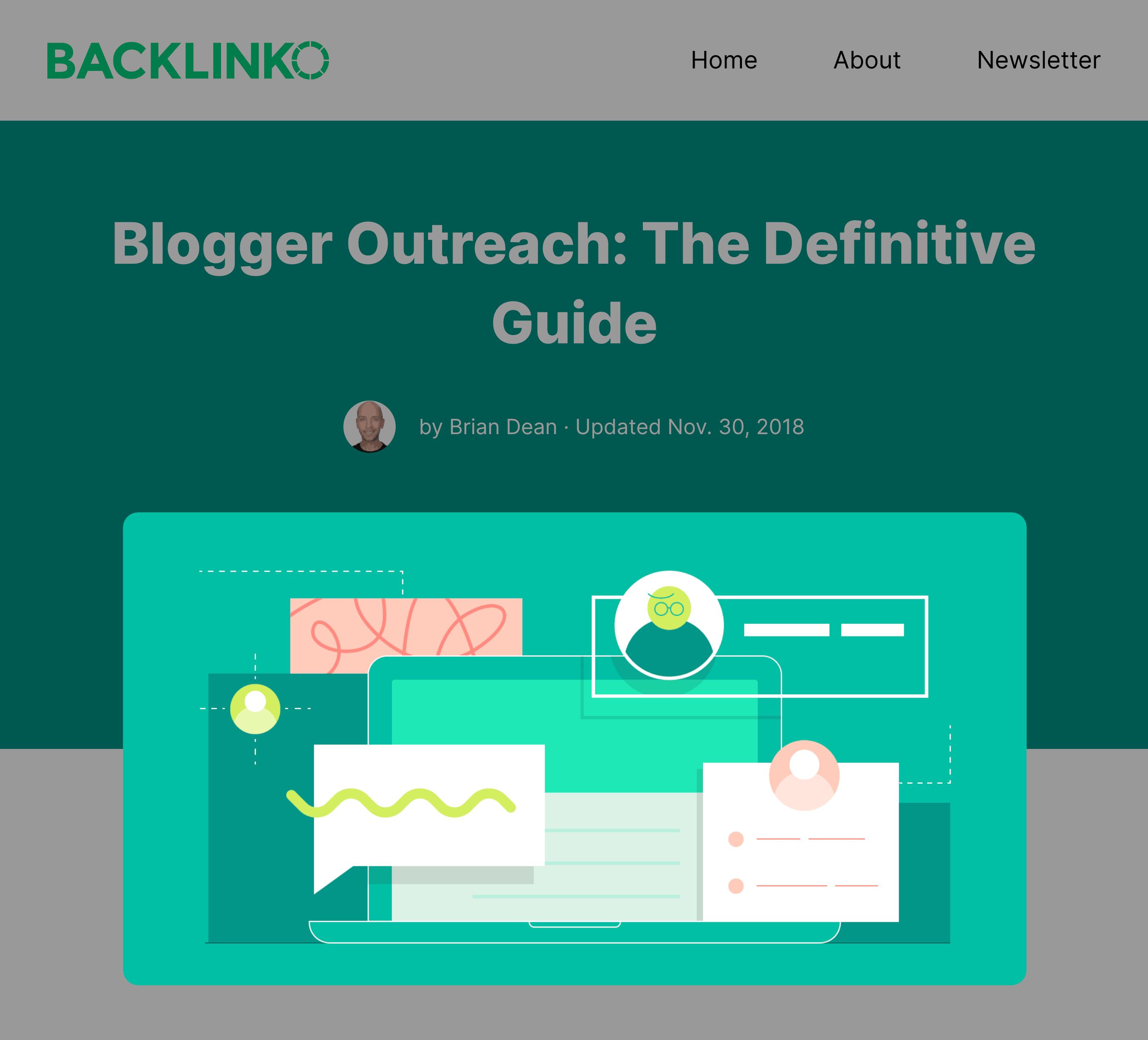 Blogger Outreach Post Banner