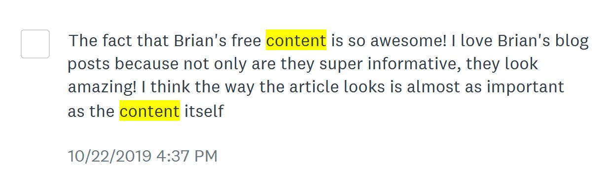 Customers Cite Backlinko Content