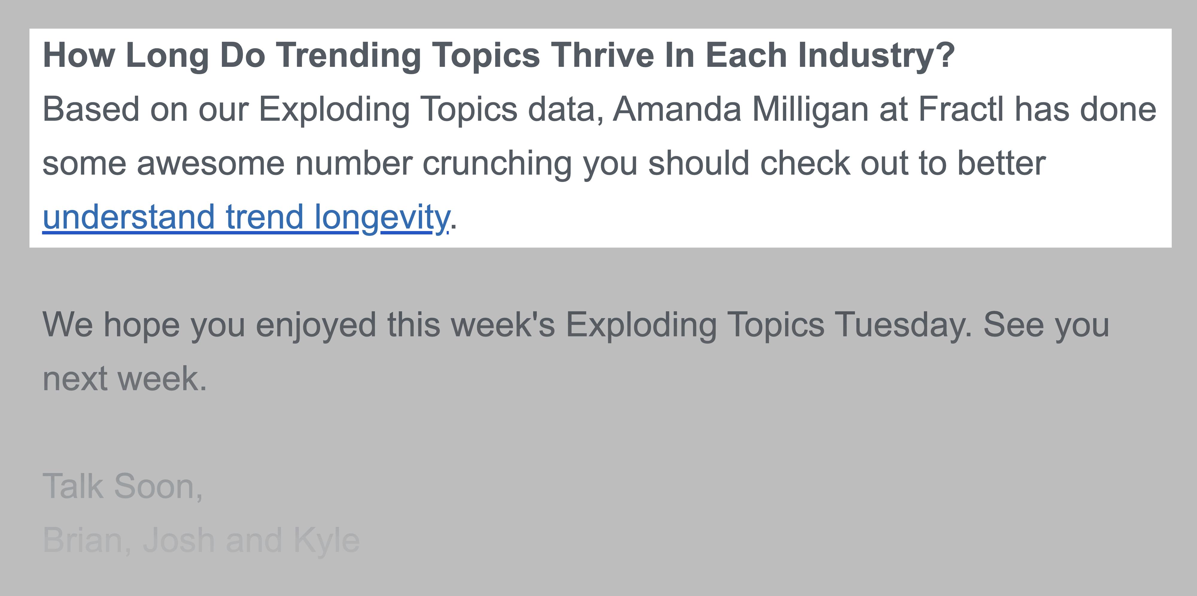 Exploding Topics – Newsletter PS