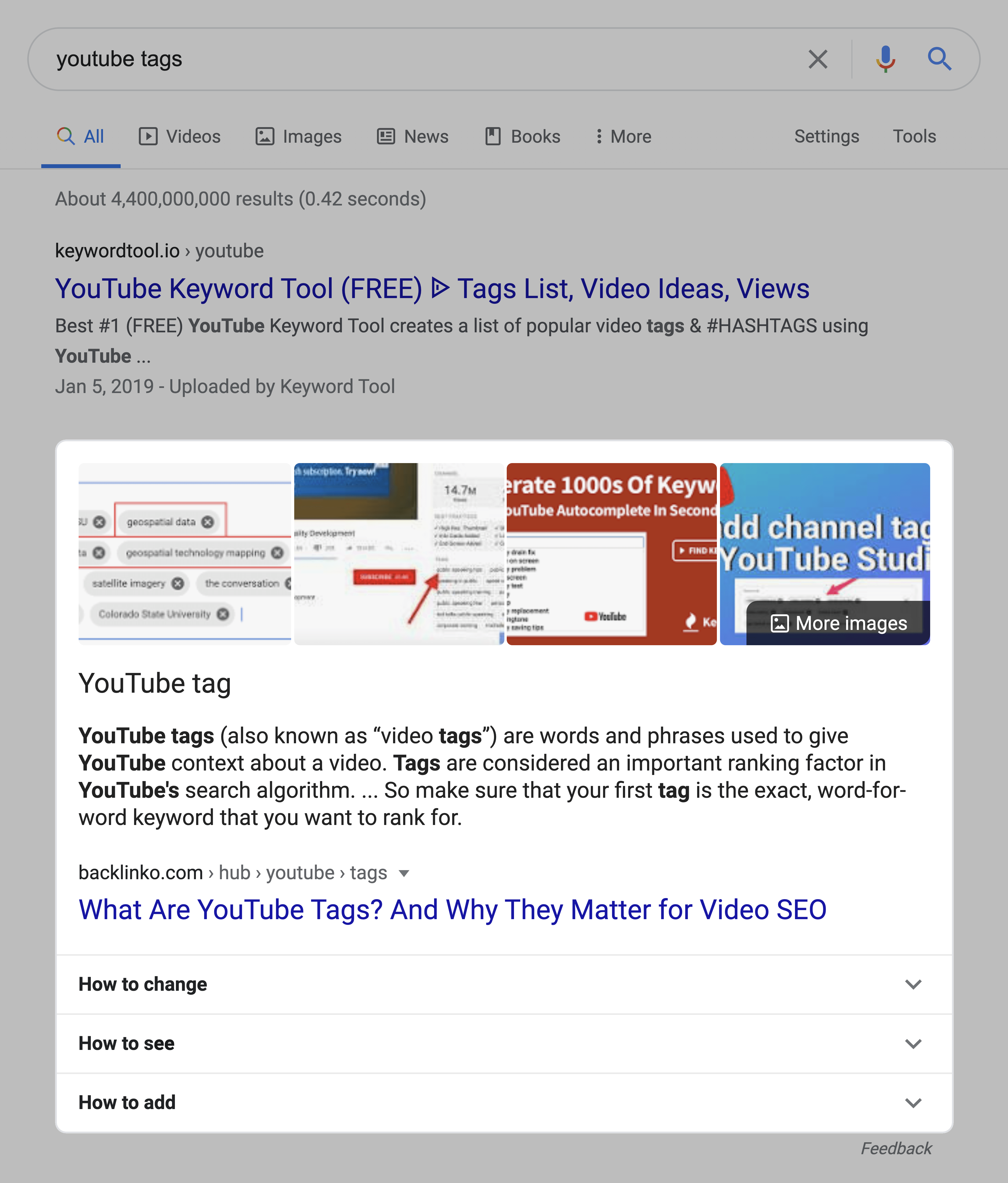 Featured Snippet Within Search Results