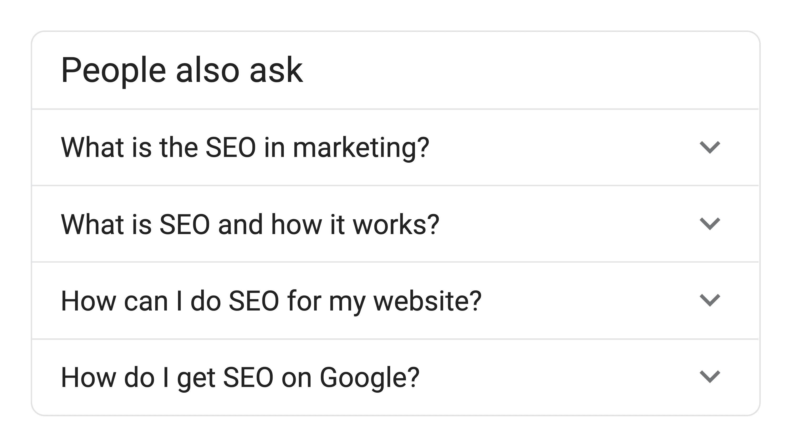 Google PAA Box
