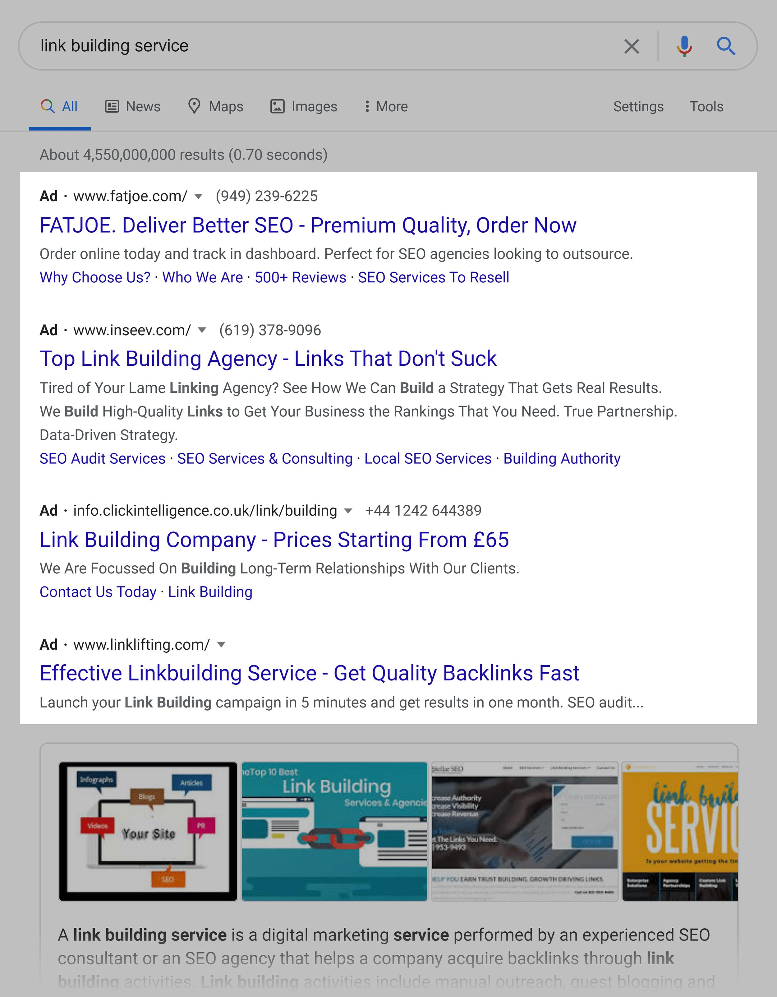 Google Ads take SERP real estate