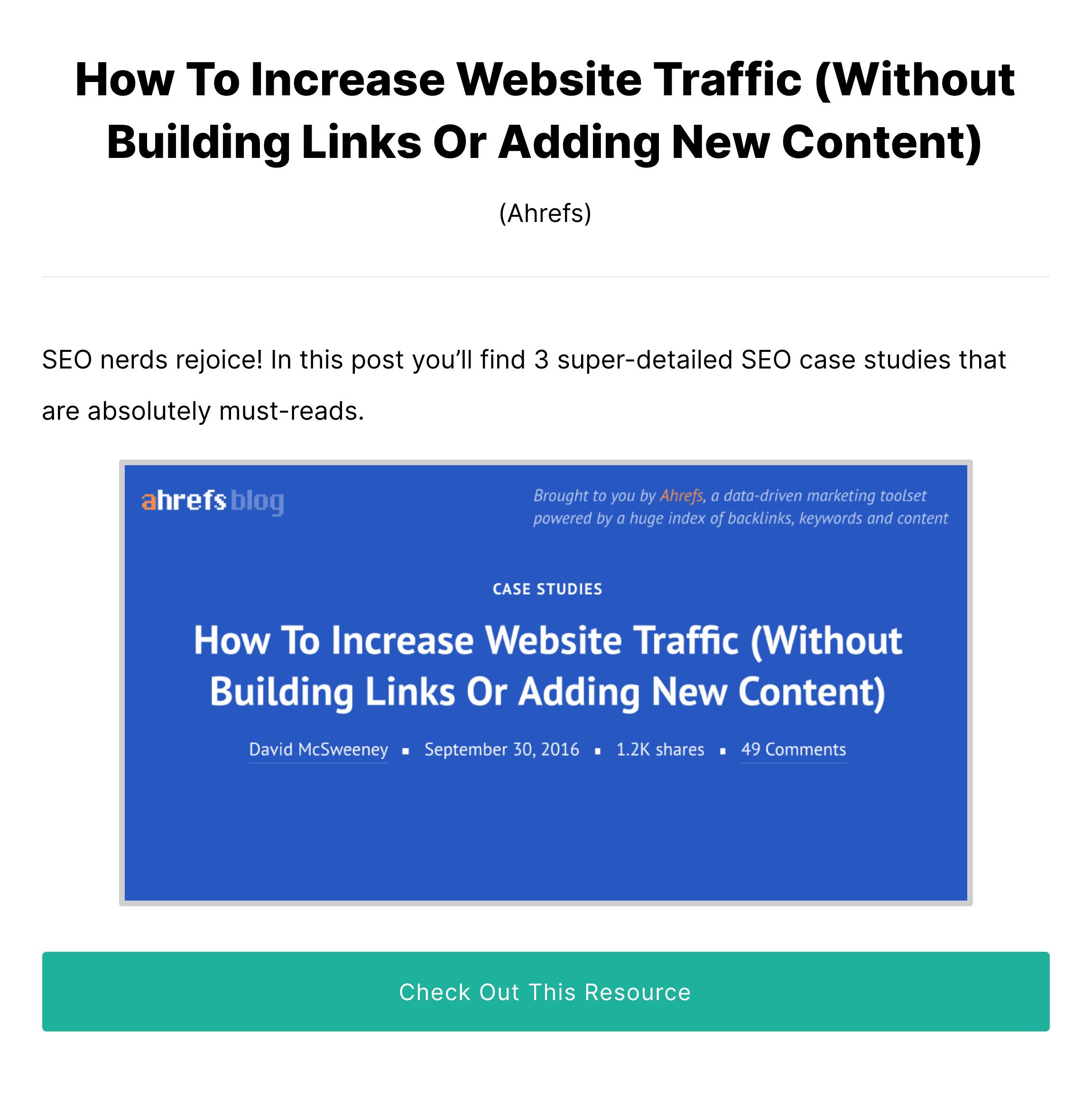 Learn SEO Fast – Ahrefs Link