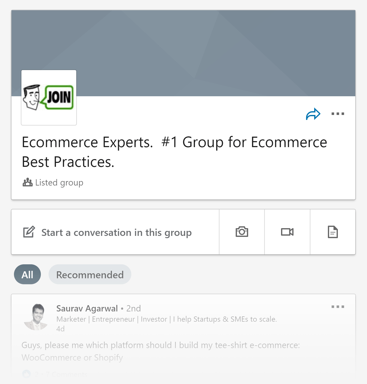 LinkedIn – Ecommerce Experts Group