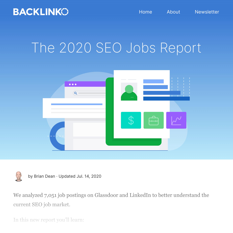 SEO Jobs Report Post