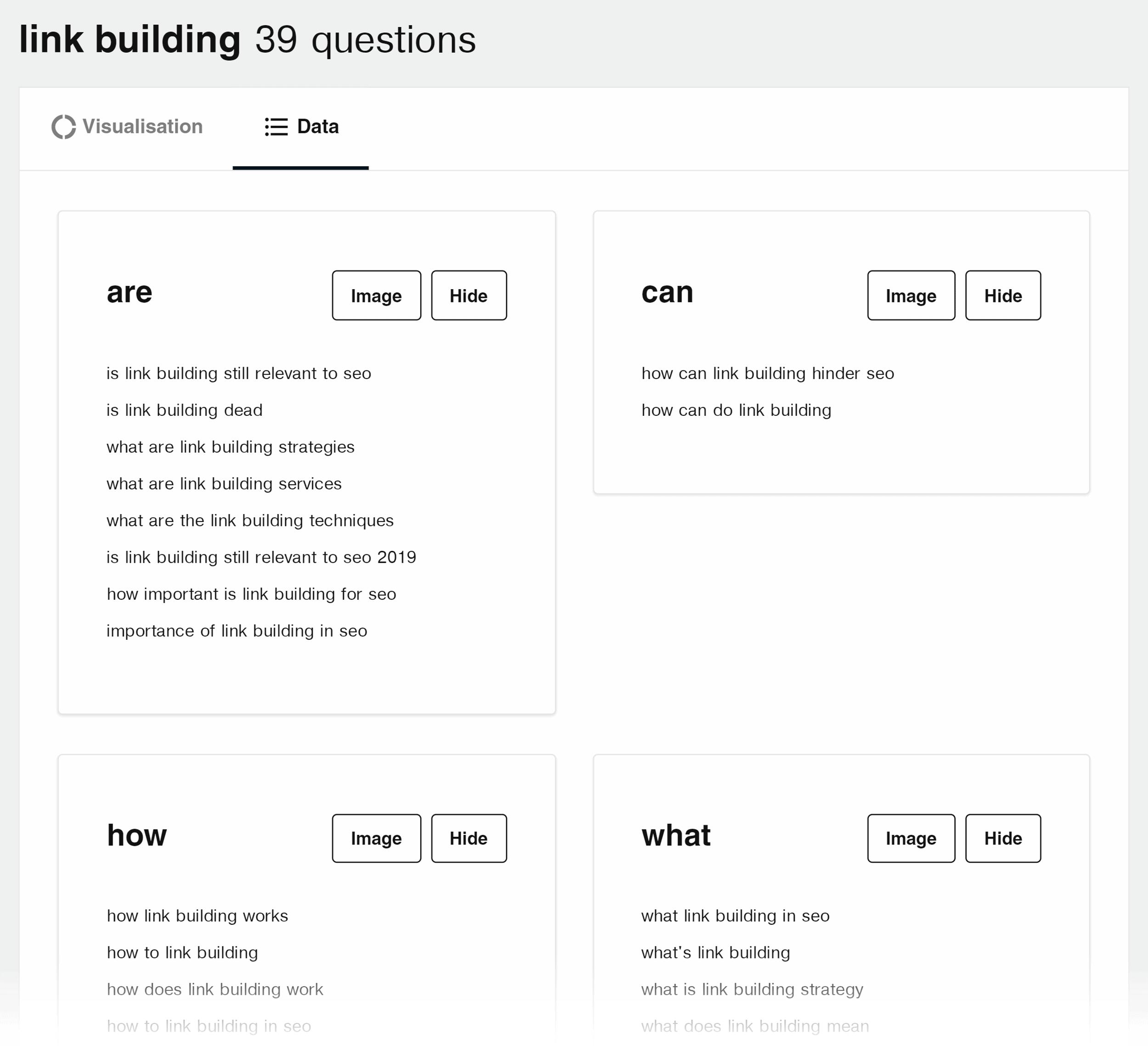 Answerthepublic – Link building search