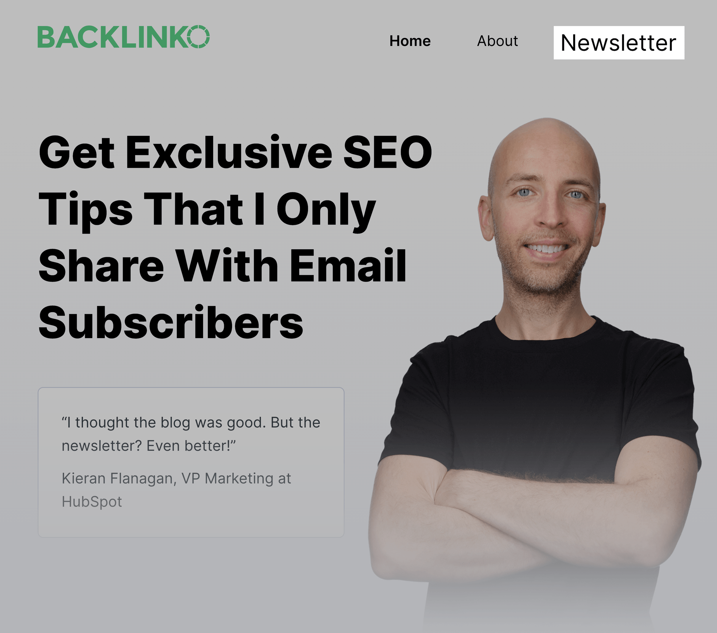Backlinko – Newsletter Page On-Site Navigation