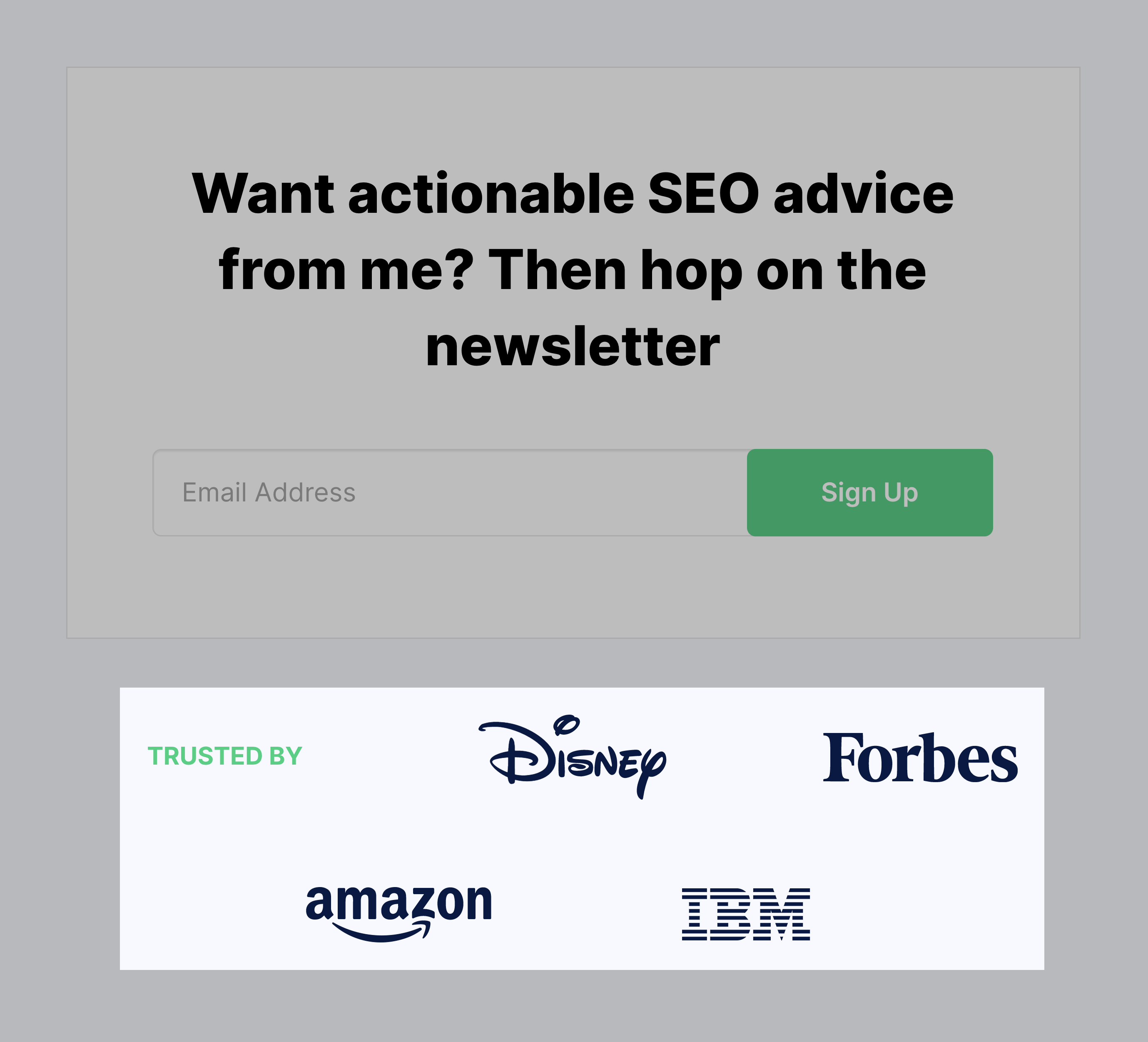 Backlinko – Newsletter Trusted By Organisations