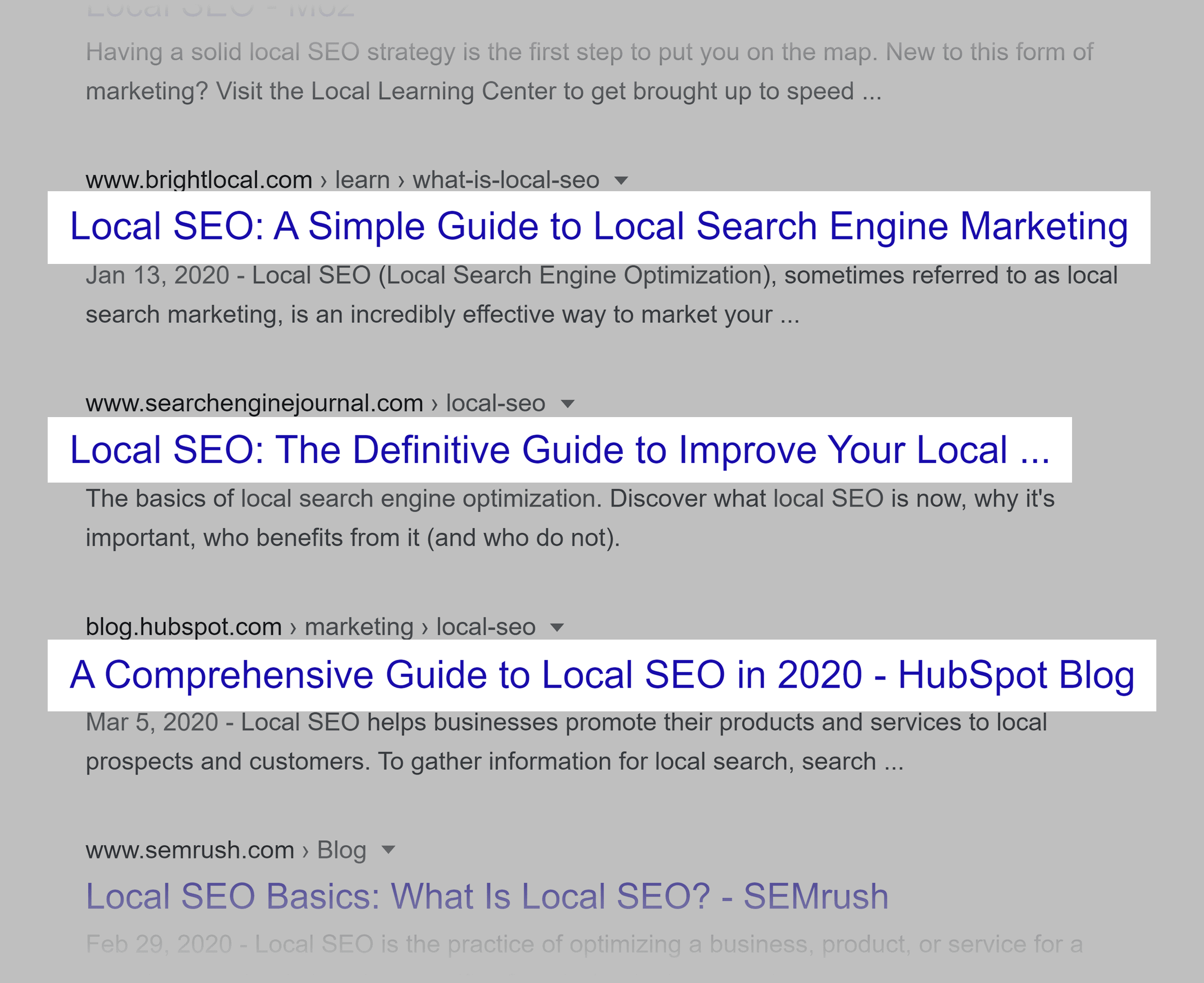 Google local SEO SERP – Guides