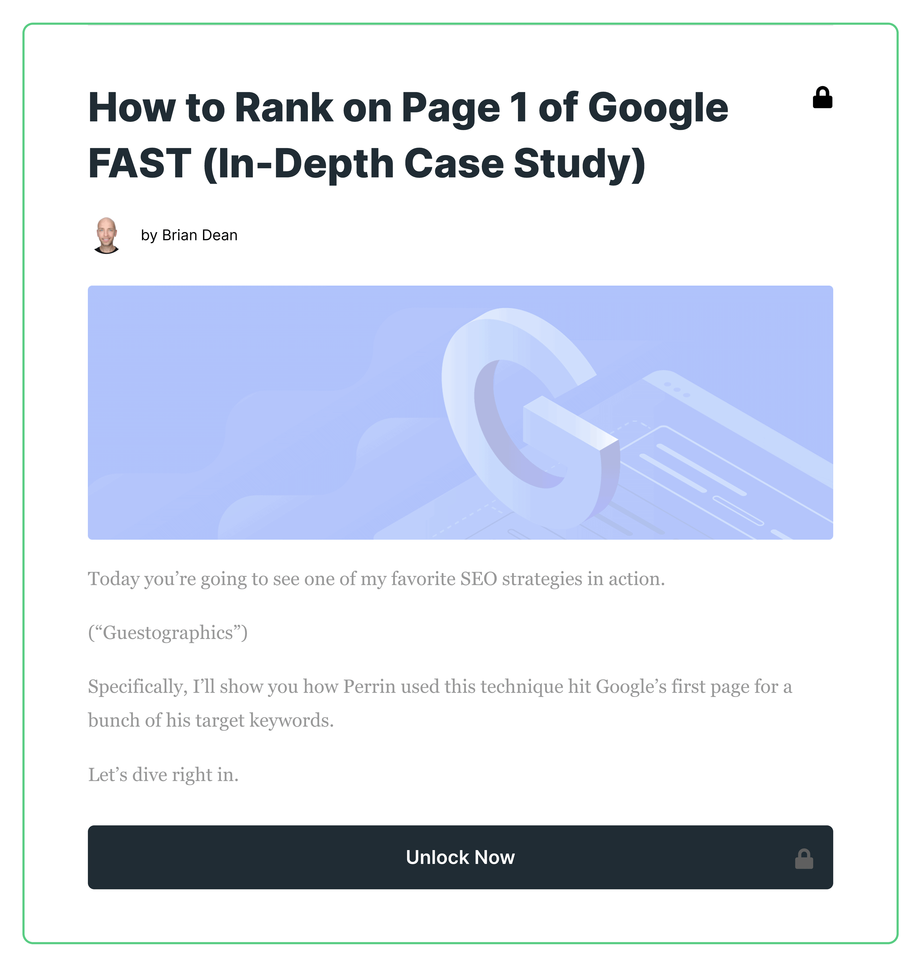 How To Rank On Page 1 Of Google Fast – Padlocked Post