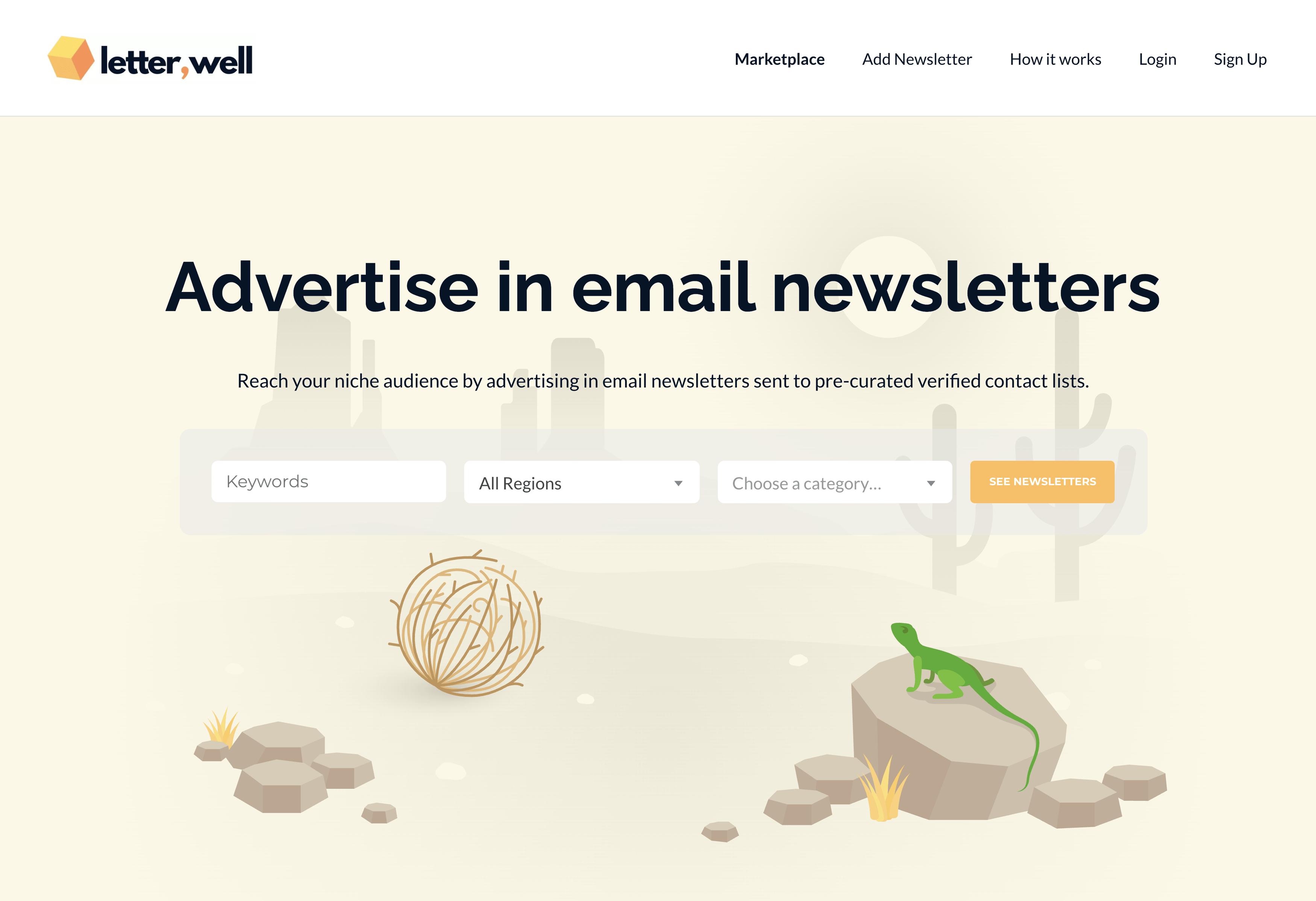 Letterwell – Homepage